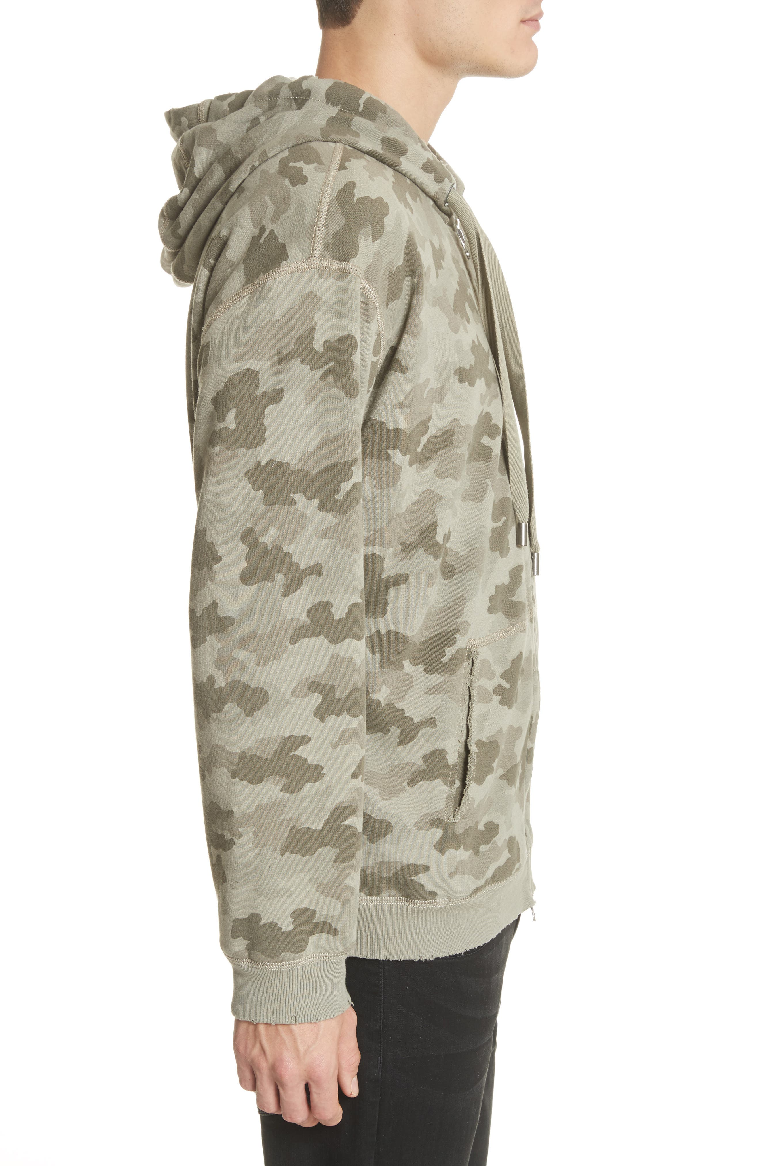 Camo French Terry Zip Hoodie,                             Alternate thumbnail 3, color,                             350