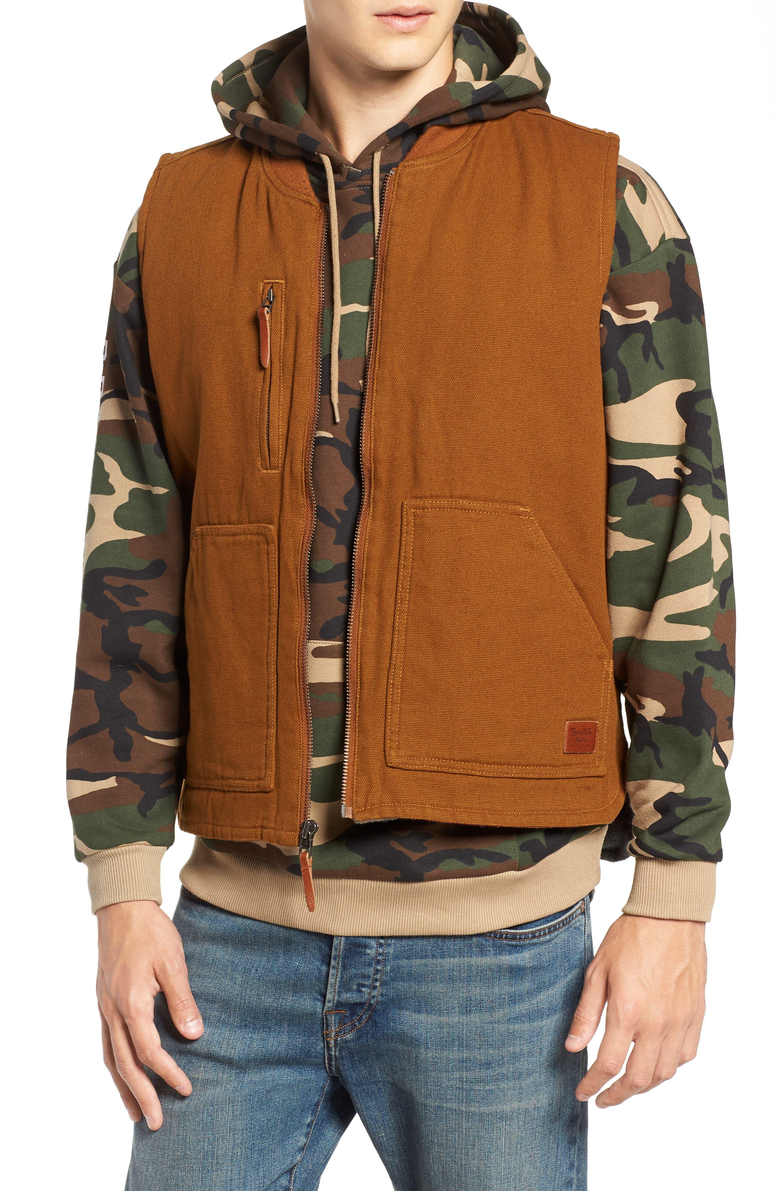 Abraham Water Resistant Vest,                         Main,                         color, COPPER