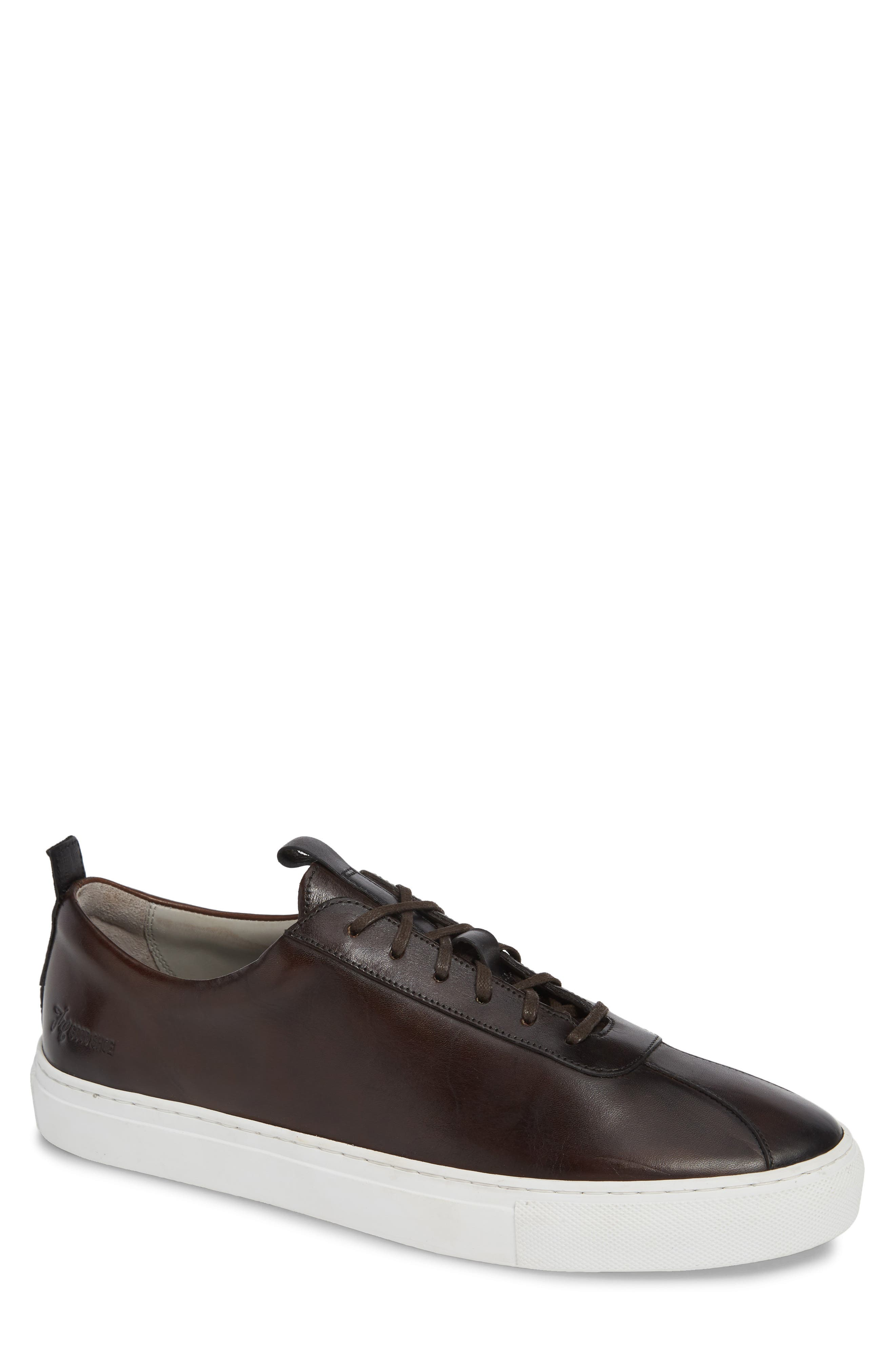 GRENSON Low Top Sneaker, Main, color, BROWN HAND PAINTED