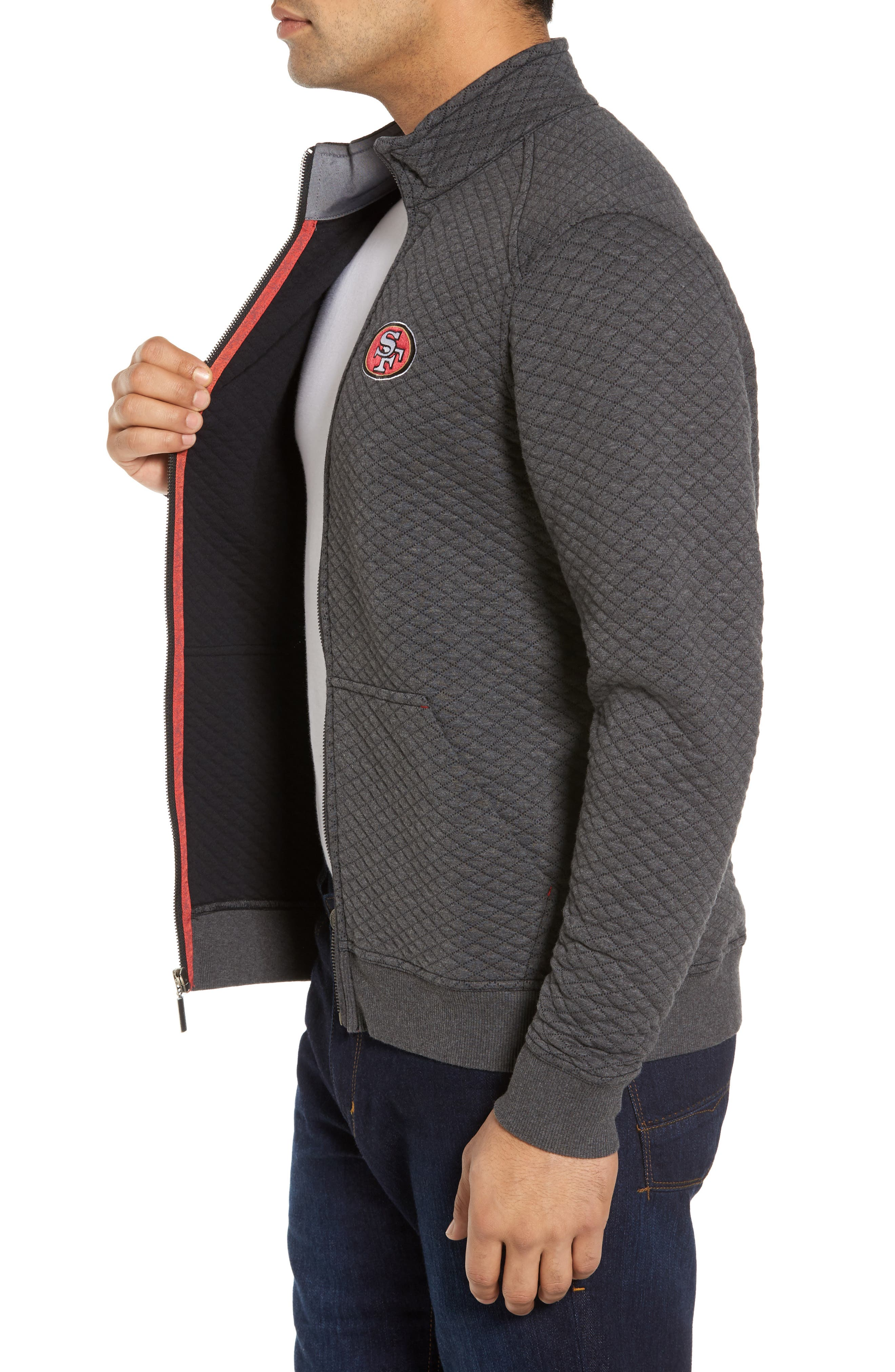 NFL Quiltessential Full Zip Sweatshirt,                             Alternate thumbnail 3, color,                             020
