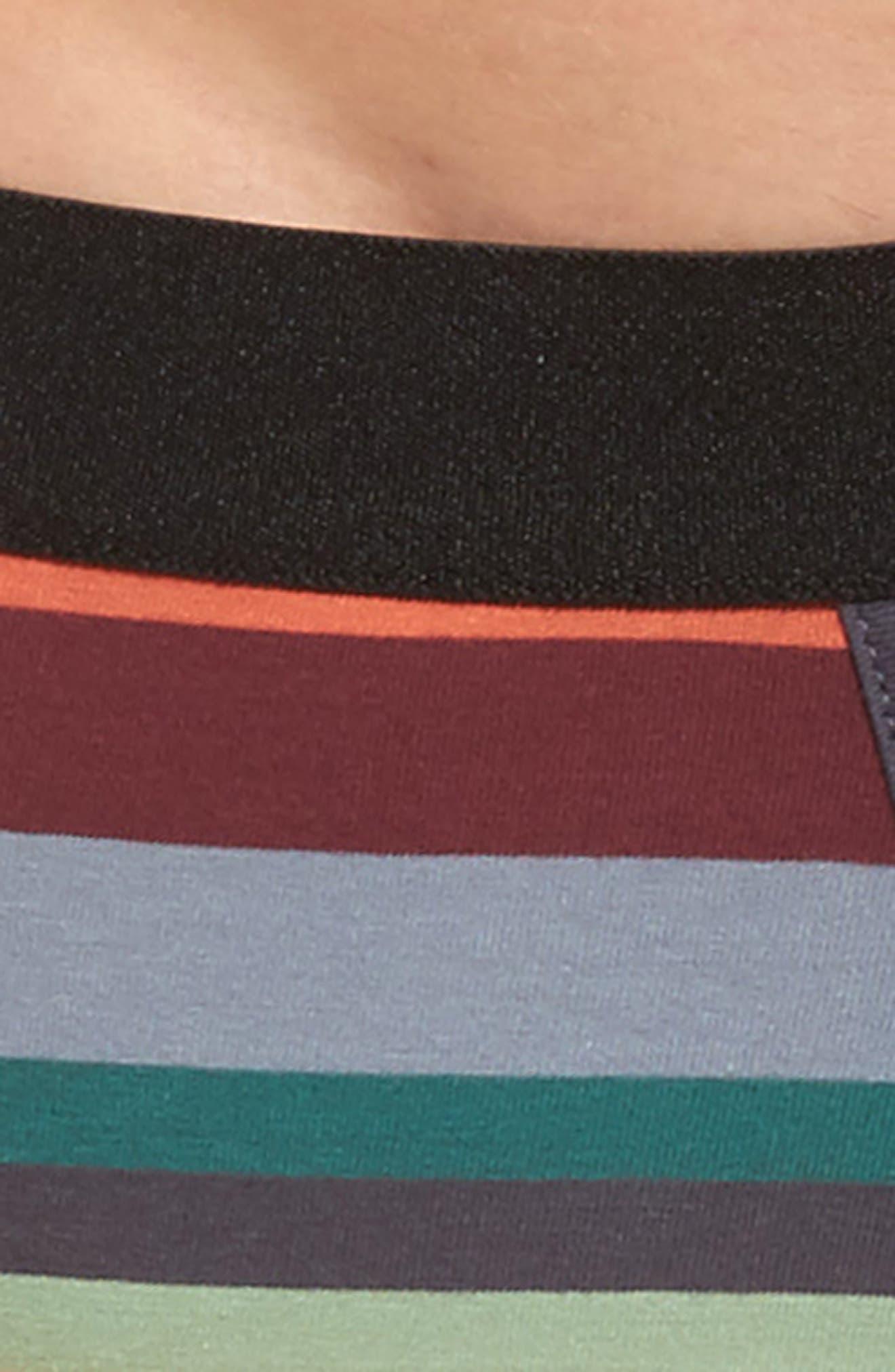 Artist Stripe Stretch Cotton Trunks,                             Alternate thumbnail 7, color,