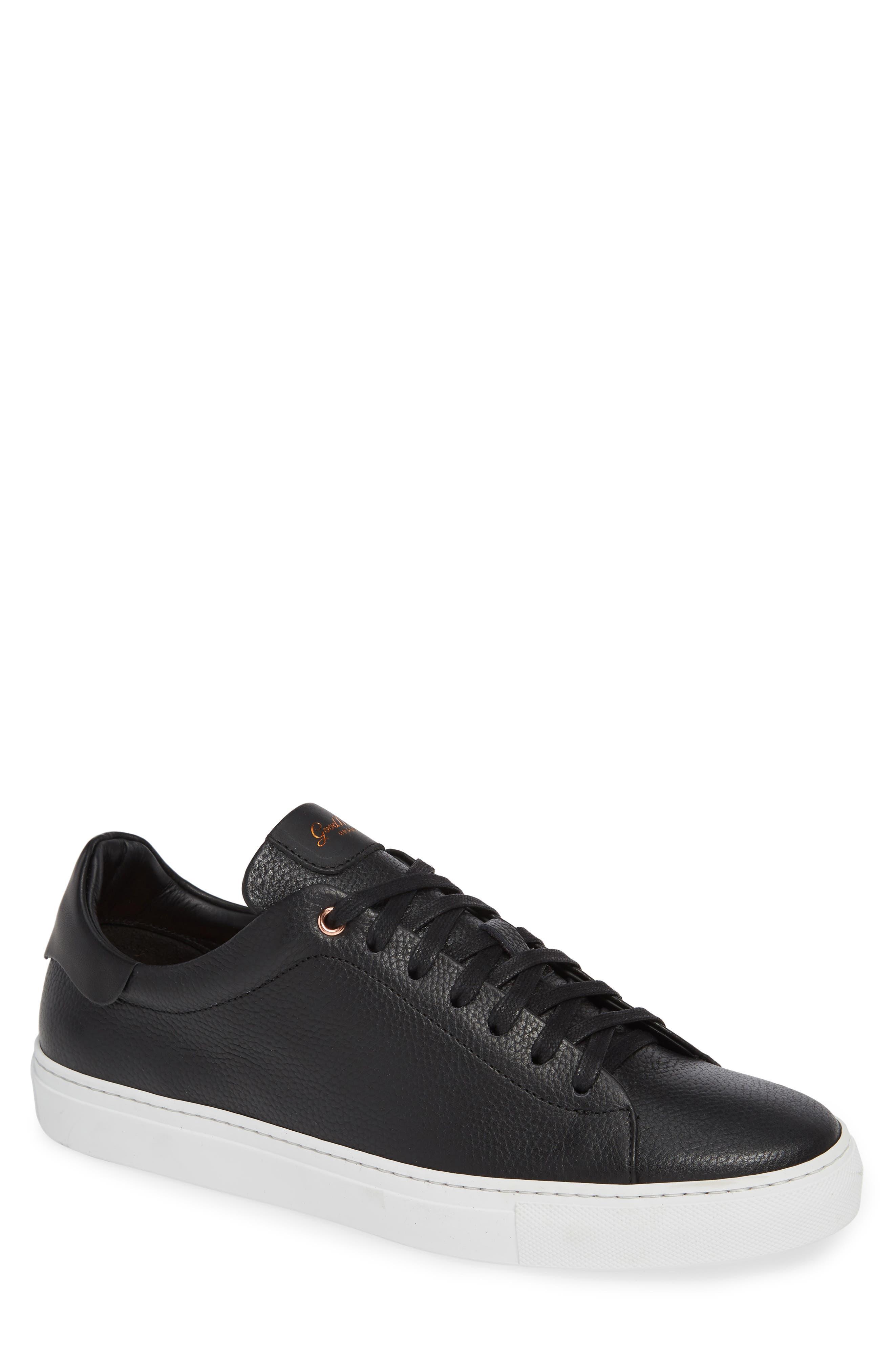 Legend Low Top Sneaker,                         Main,                         color, BLACK PEBBLE LEATHER