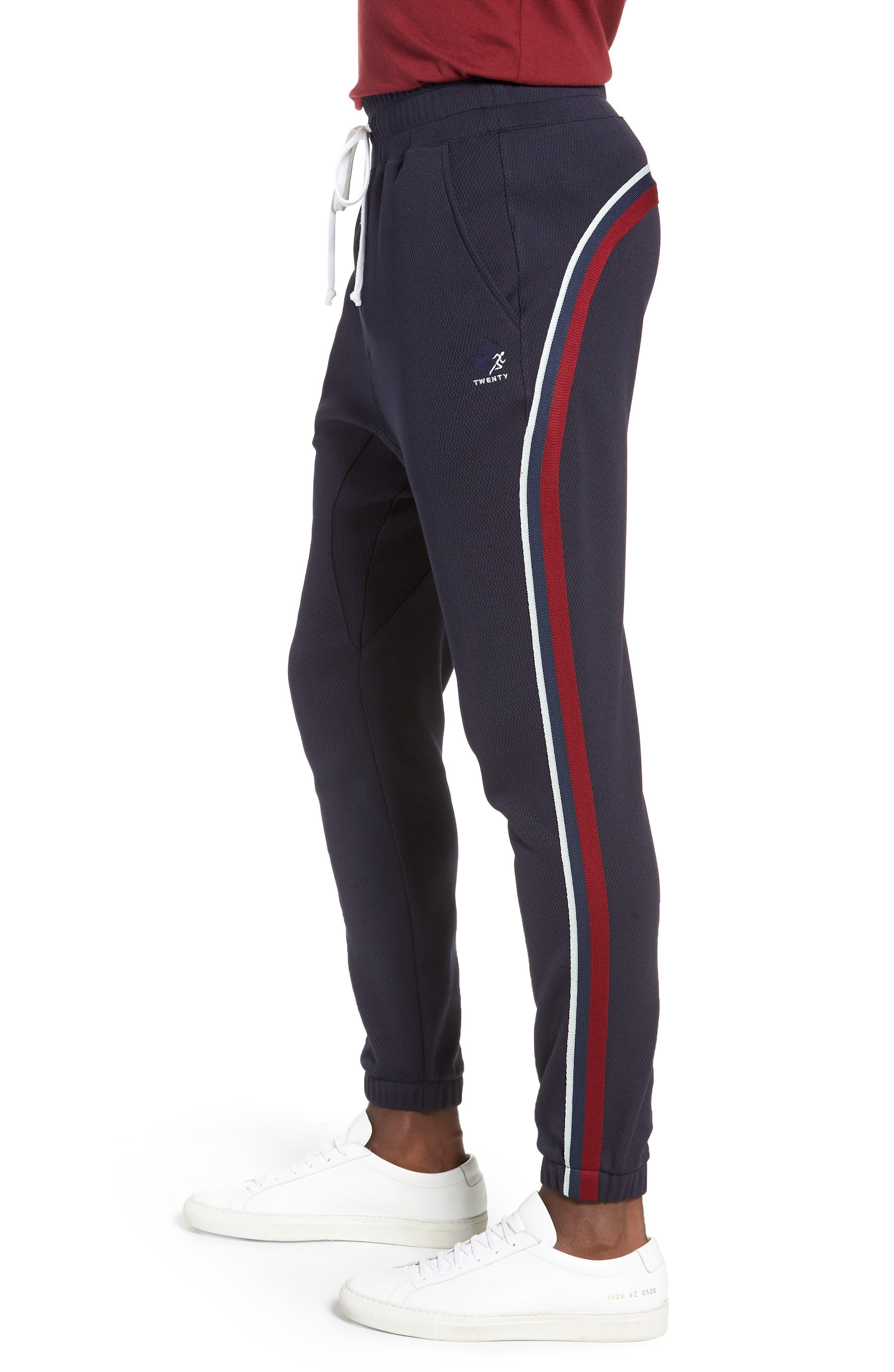 Slim Fit Track Pants,                             Alternate thumbnail 3, color,                             ADMIRAL