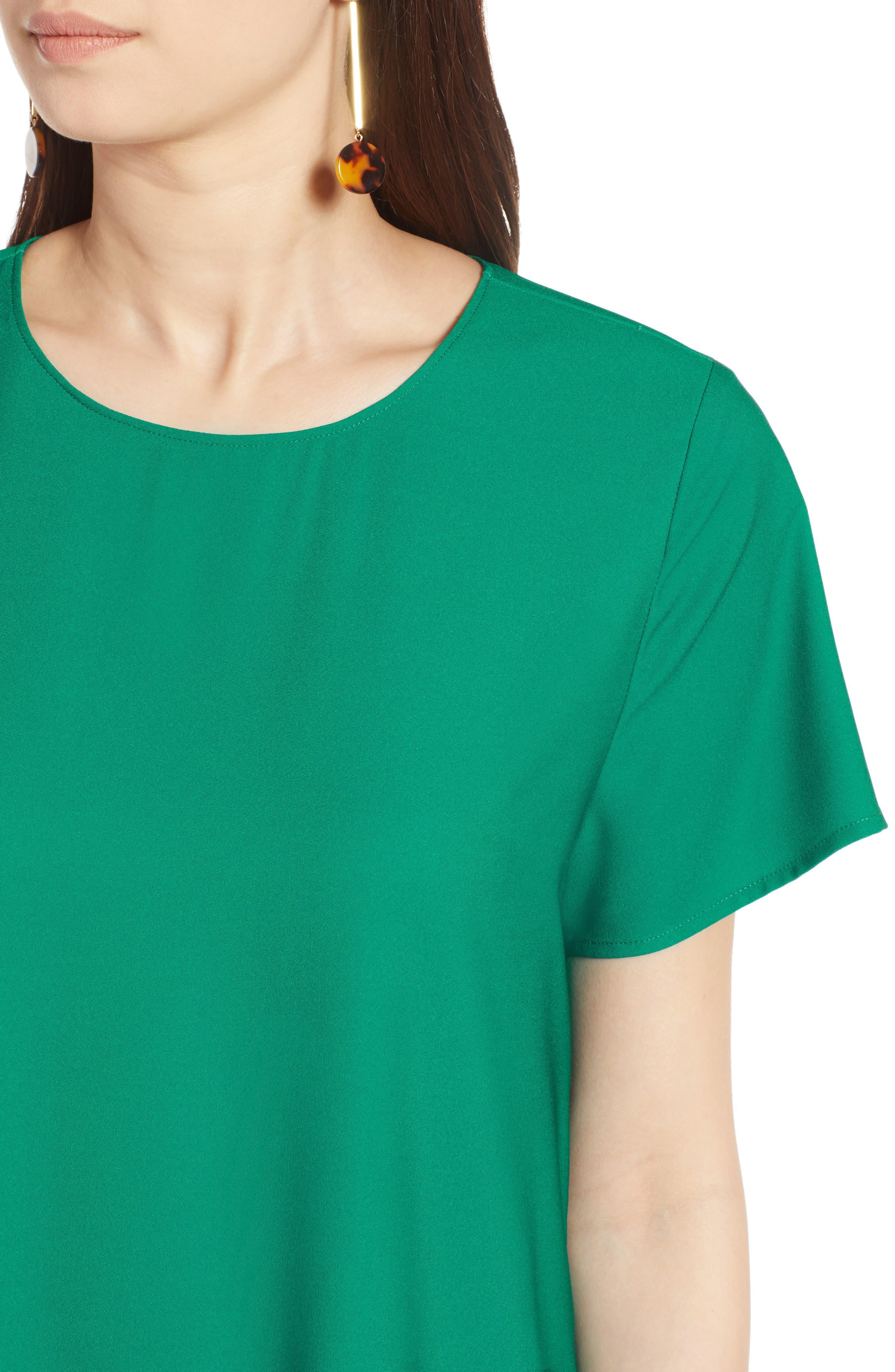 Short Sleeve Ruffle Hem Dress,                             Alternate thumbnail 22, color,