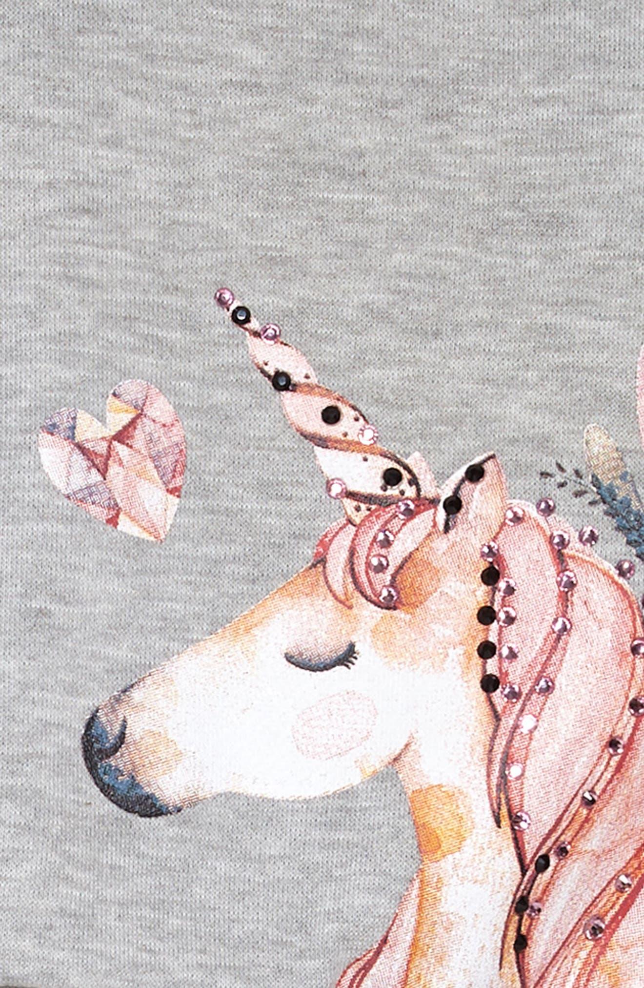 Unicorn Sweatshirt & Tutu Dress Set,                             Alternate thumbnail 6, color,                             069