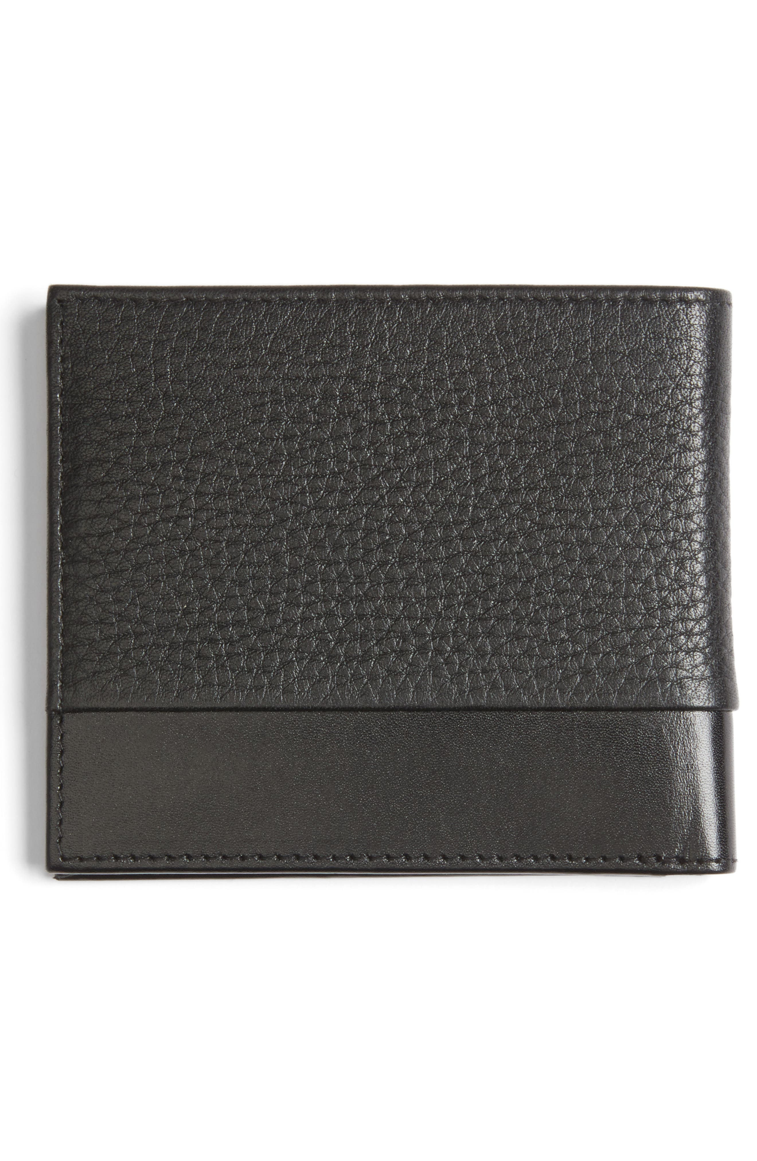 Mixdup Leather Wallet,                             Alternate thumbnail 3, color,                             001