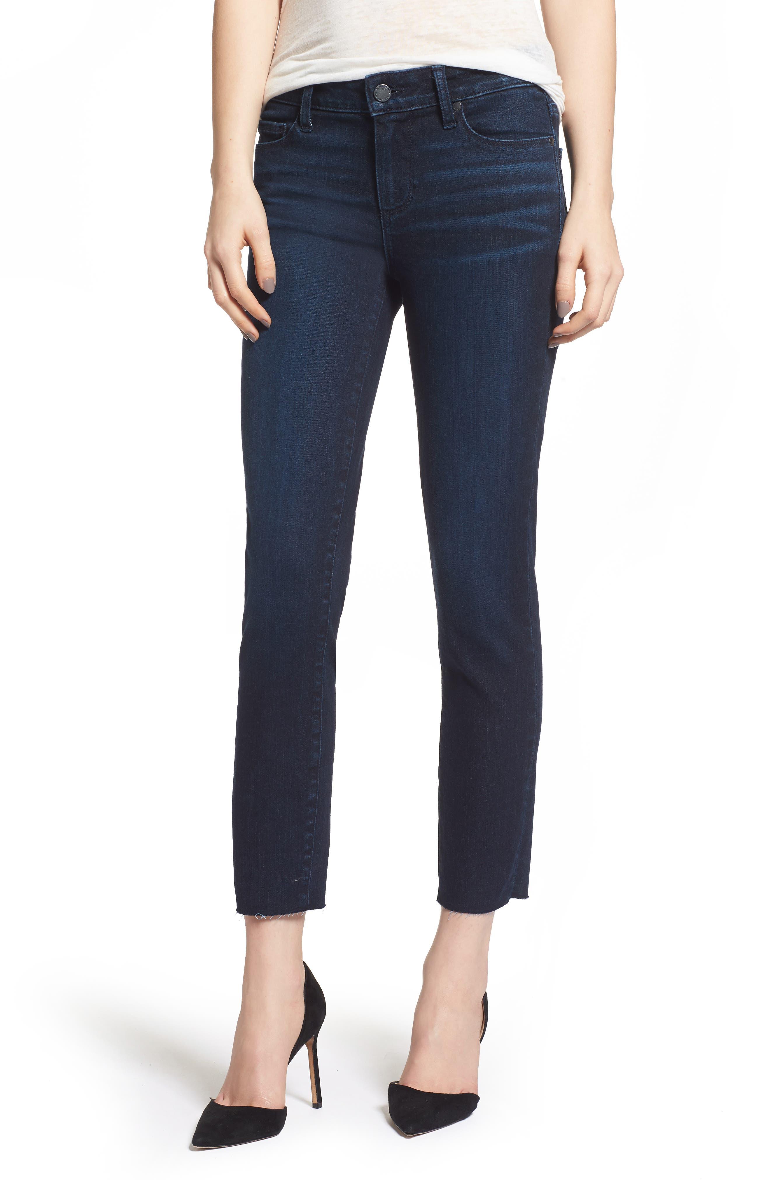Transcend Vintage - Skyline Crop Skinny Jeans,                             Main thumbnail 1, color,                             LUELLA