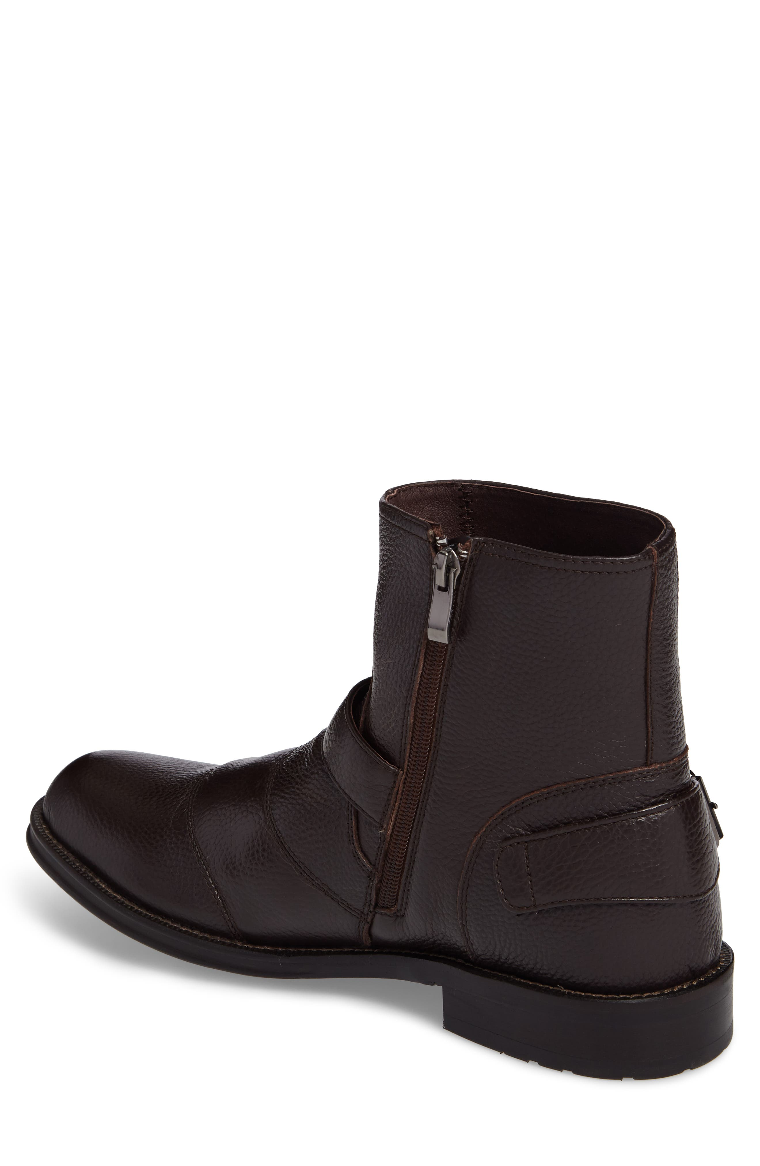 Howson Buckle Strap Boot,                             Alternate thumbnail 2, color,                             BROWN LEATHER