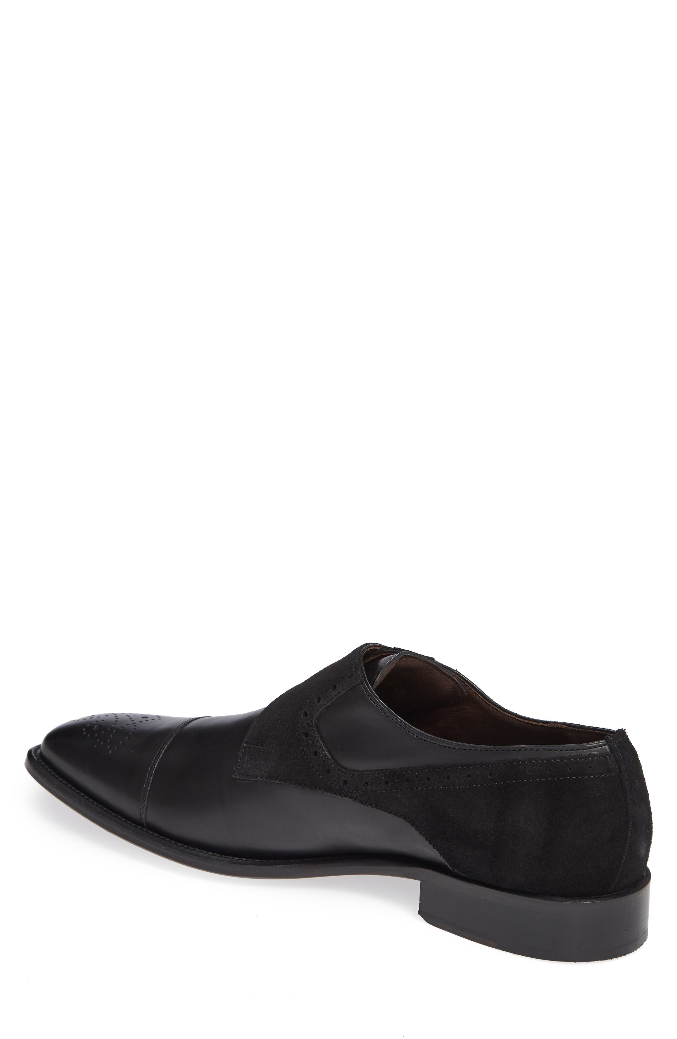 Maxwell Monk Shoe,                             Alternate thumbnail 2, color,                             BLACK SUEDE