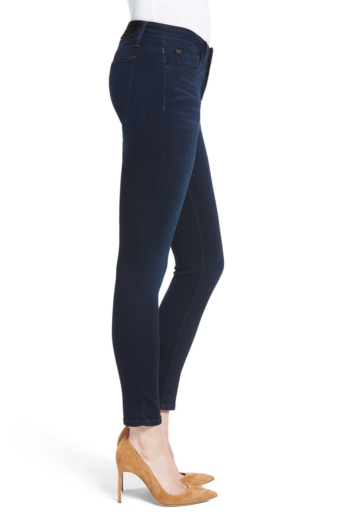 'Icon' Ankle Skinny Jeans,                             Alternate thumbnail 5, color,                             SELMA