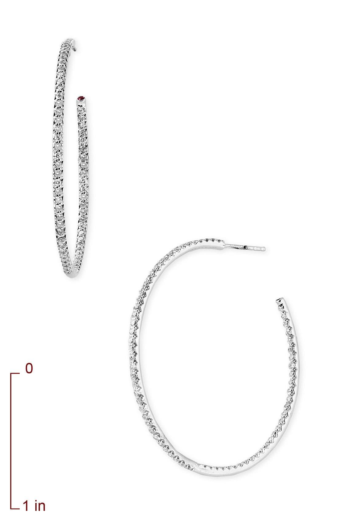 ROBERTO COIN,                             Extra Large Diamond Hoop Earrings,                             Alternate thumbnail 2, color,                             711