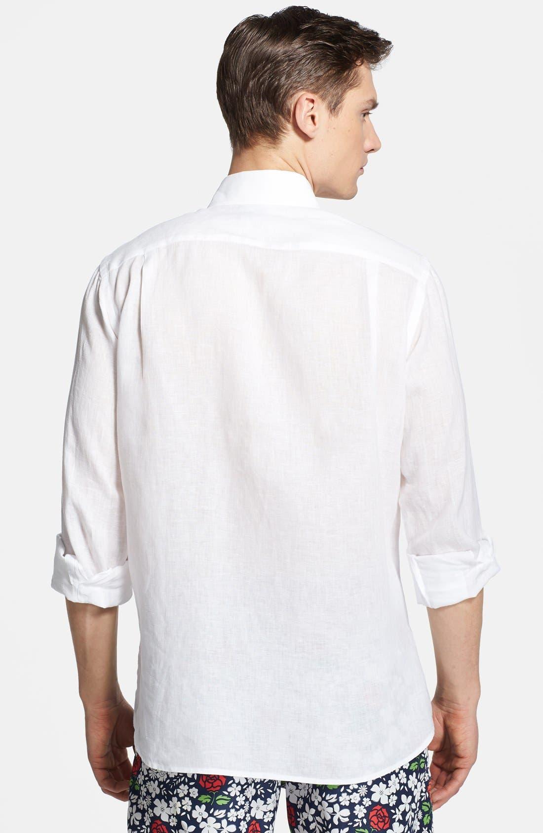 'Caroubier' Linen Shirt,                             Alternate thumbnail 32, color,