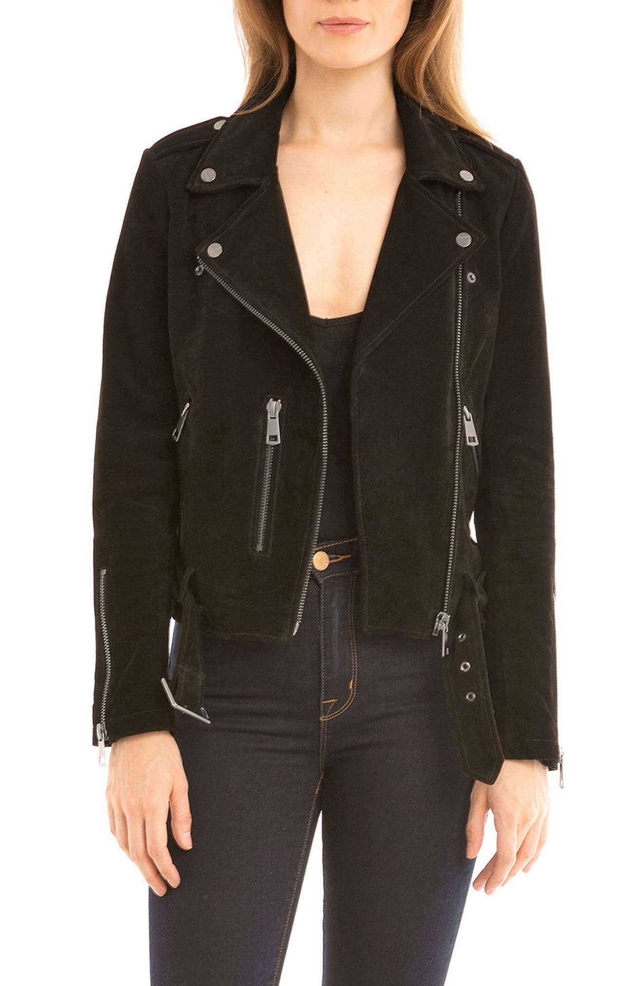 NYC  Suede Jacket,                             Main thumbnail 2, color,