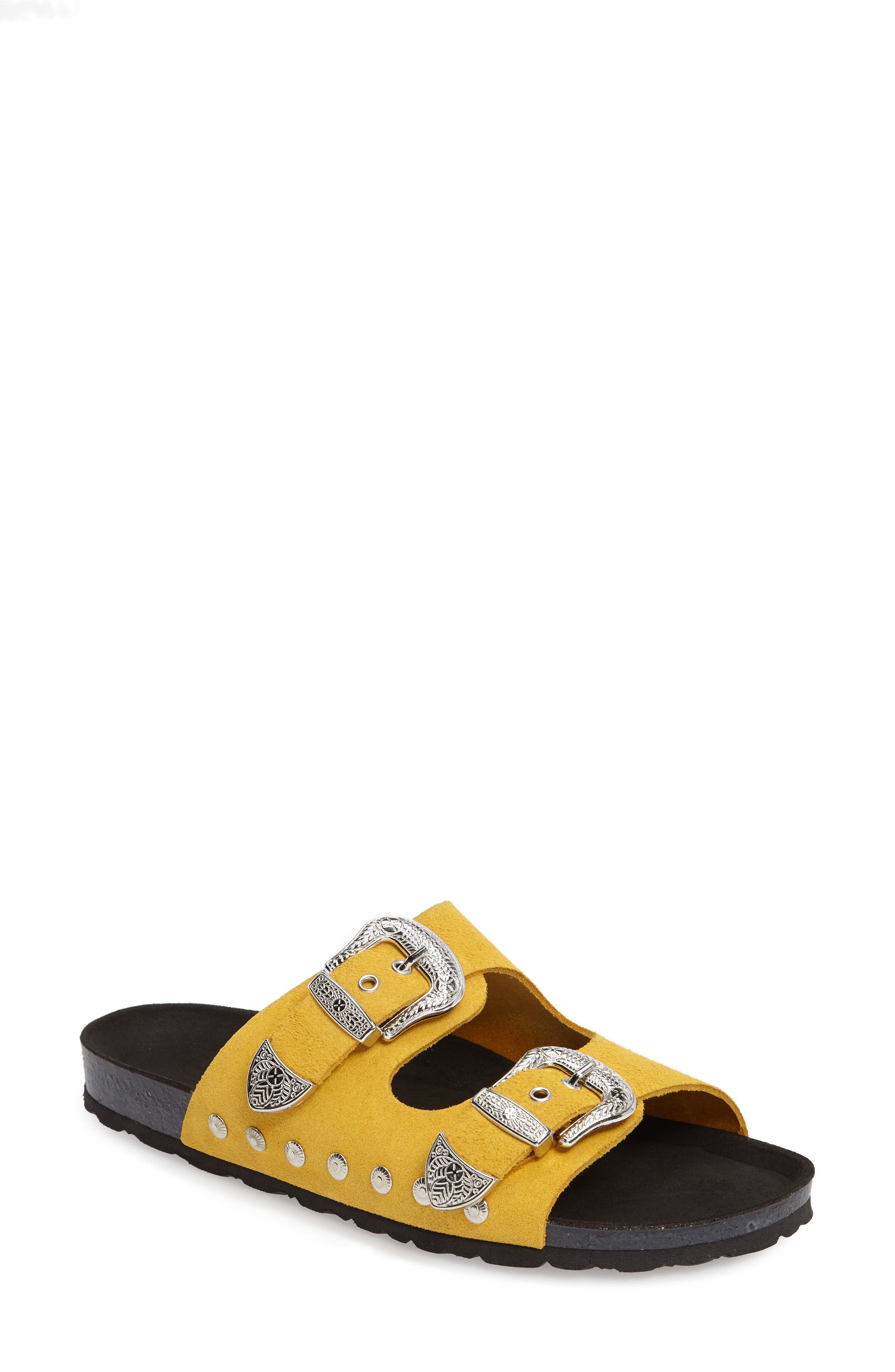 Studded Slide Sandal,                             Main thumbnail 6, color,