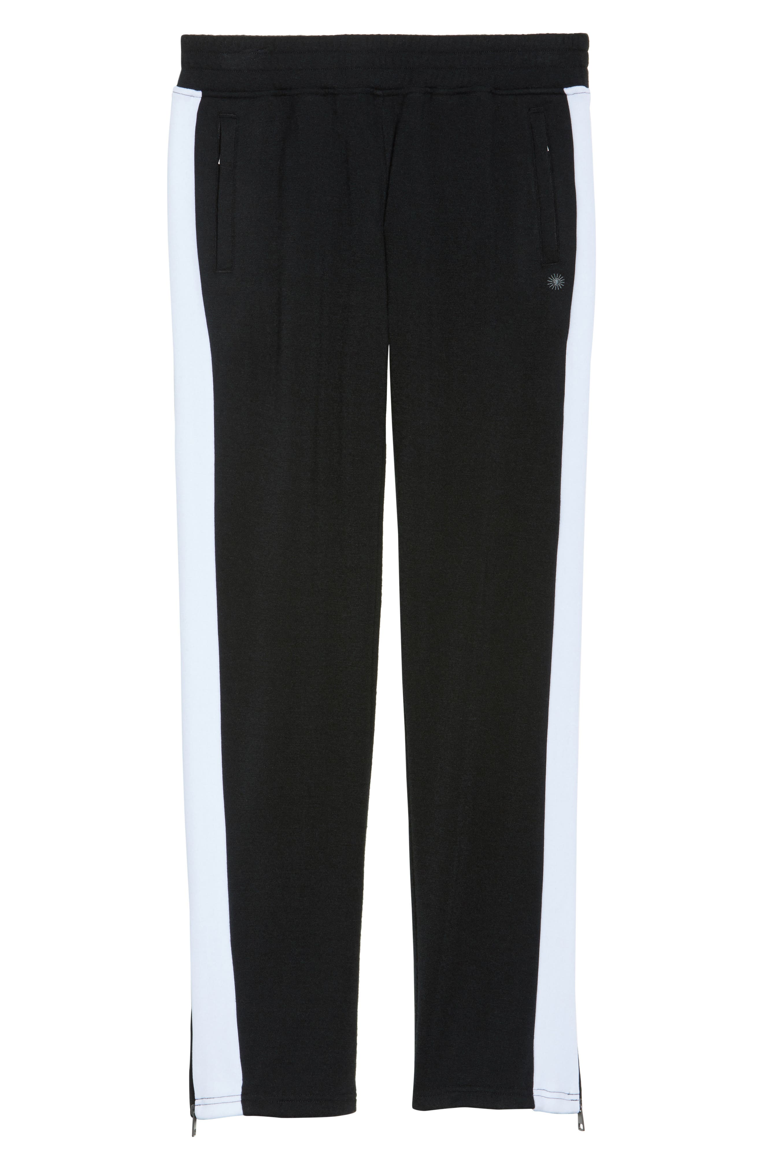 Lizy Track Pants,                             Alternate thumbnail 6, color,                             BLACK