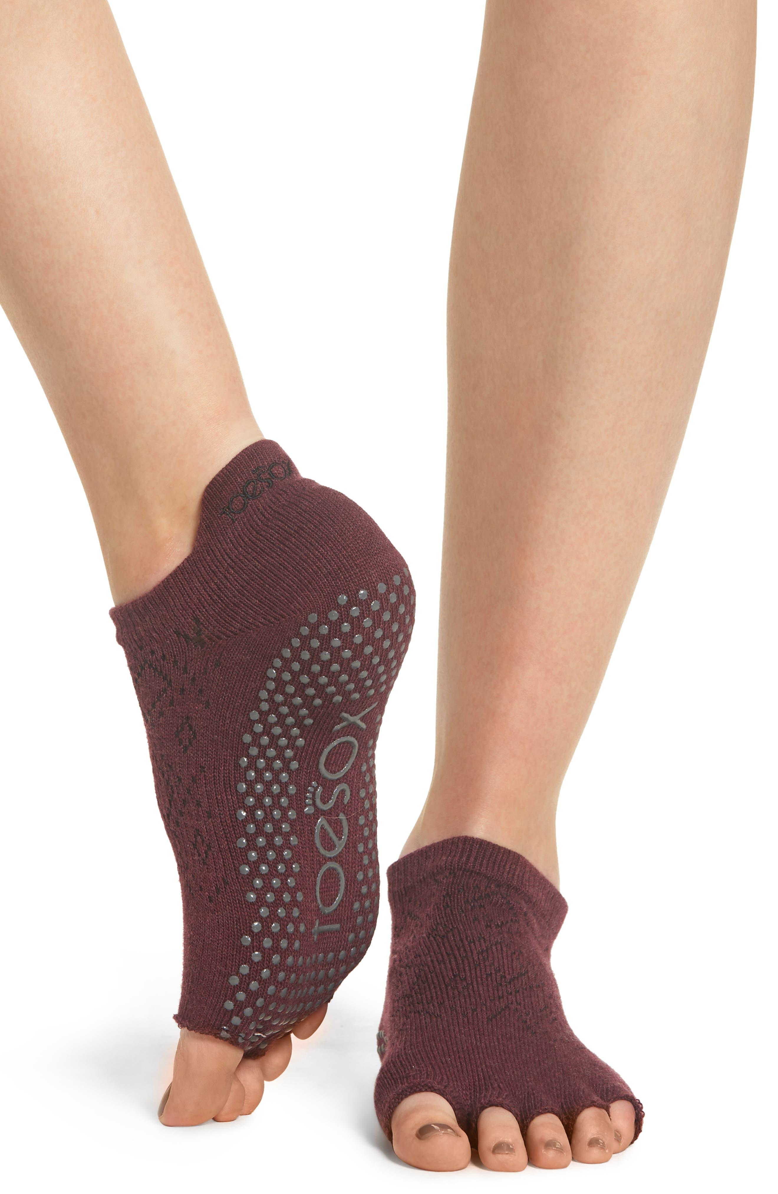 Low Rise Half-Toe Gripper Socks,                             Alternate thumbnail 2, color,                             VIXEN