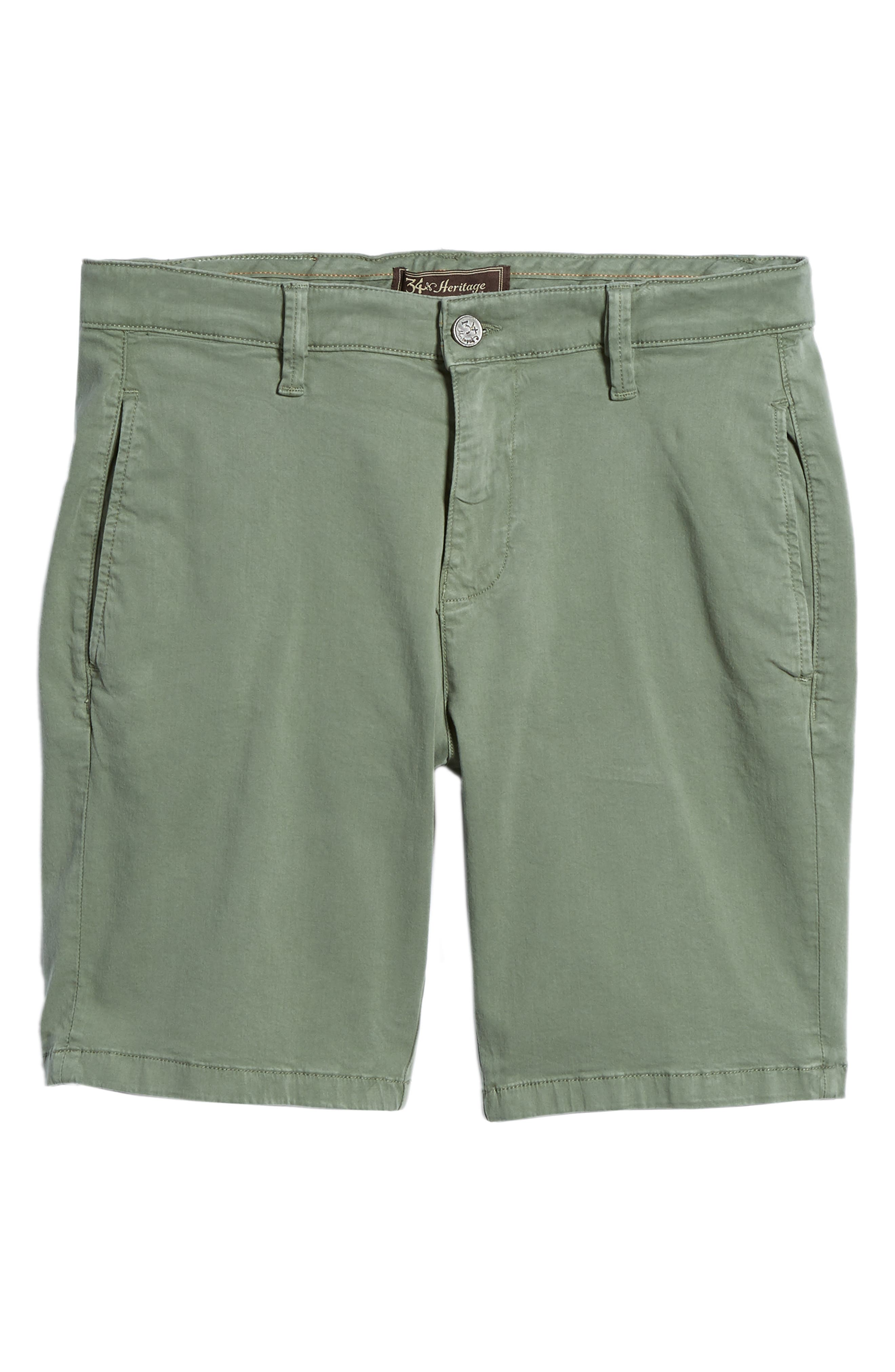 34 HERITAGE,                             Nevada Twill Shorts,                             Alternate thumbnail 6, color,                             MOSS TWILL