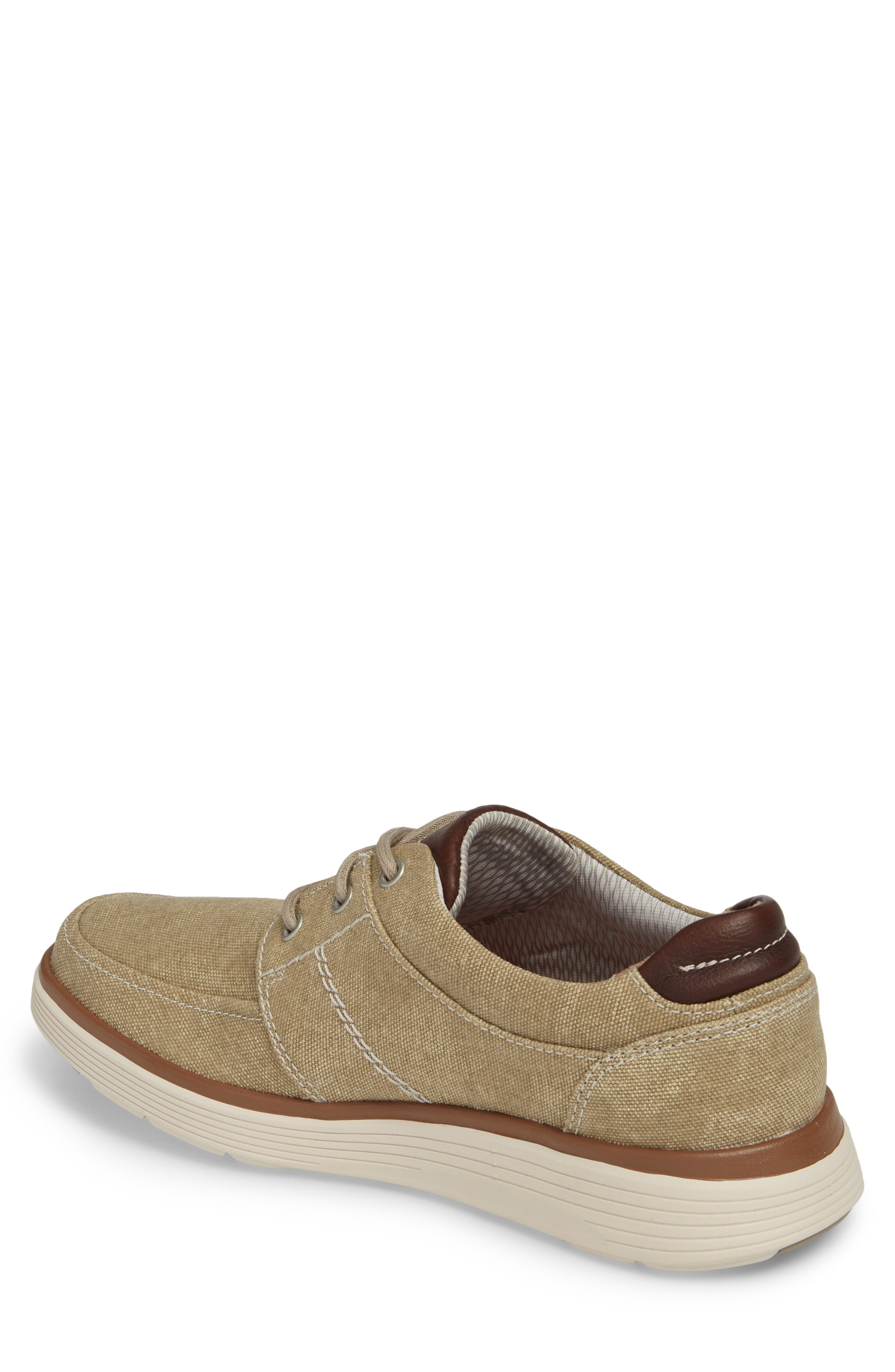 Clarks<sup>®</sup> Unabode Form Sneaker,                             Alternate thumbnail 2, color,                             SAND FABRIC