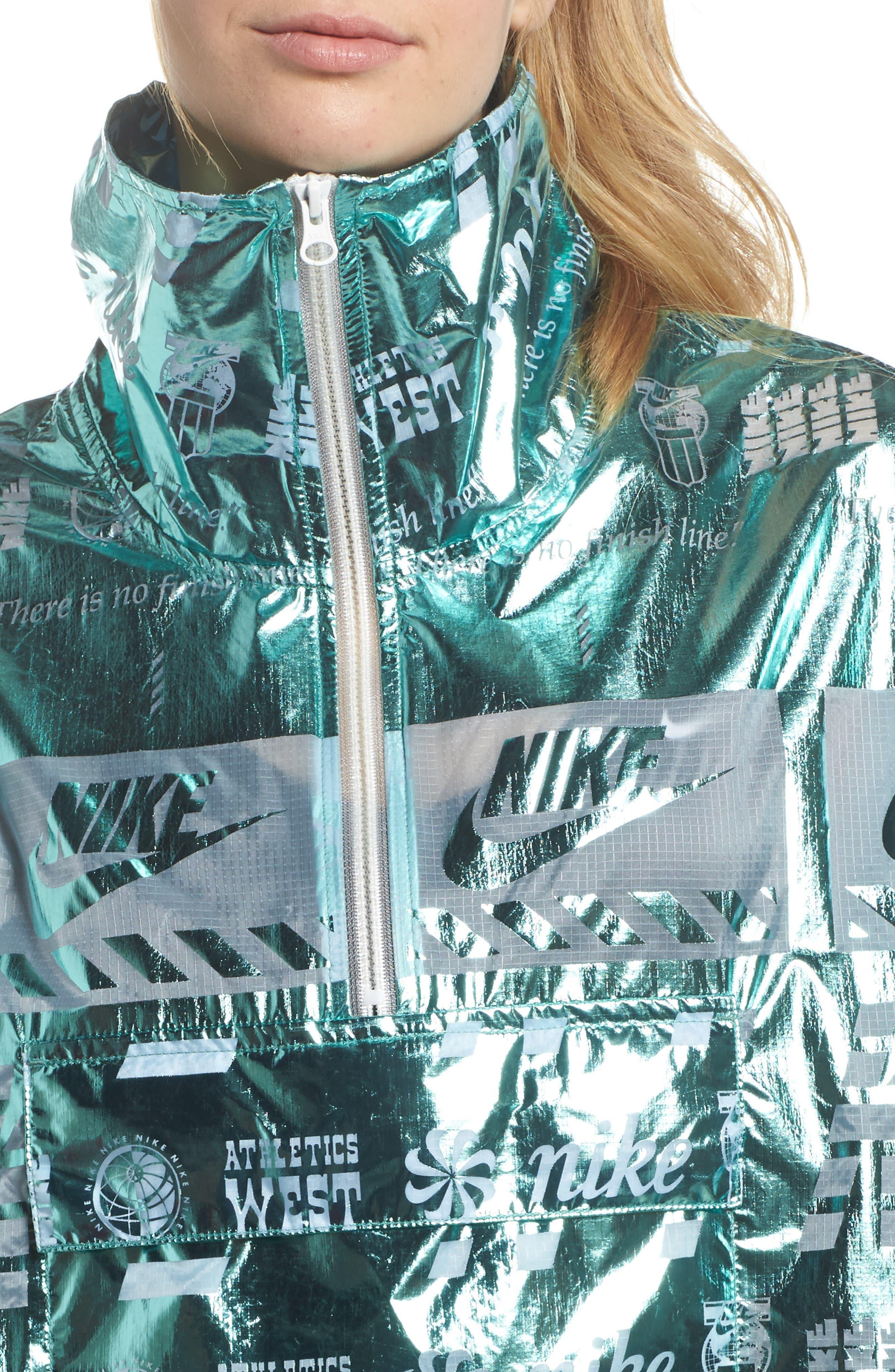 Sportswear Metallic Half Zip Jacket,                             Alternate thumbnail 15, color,