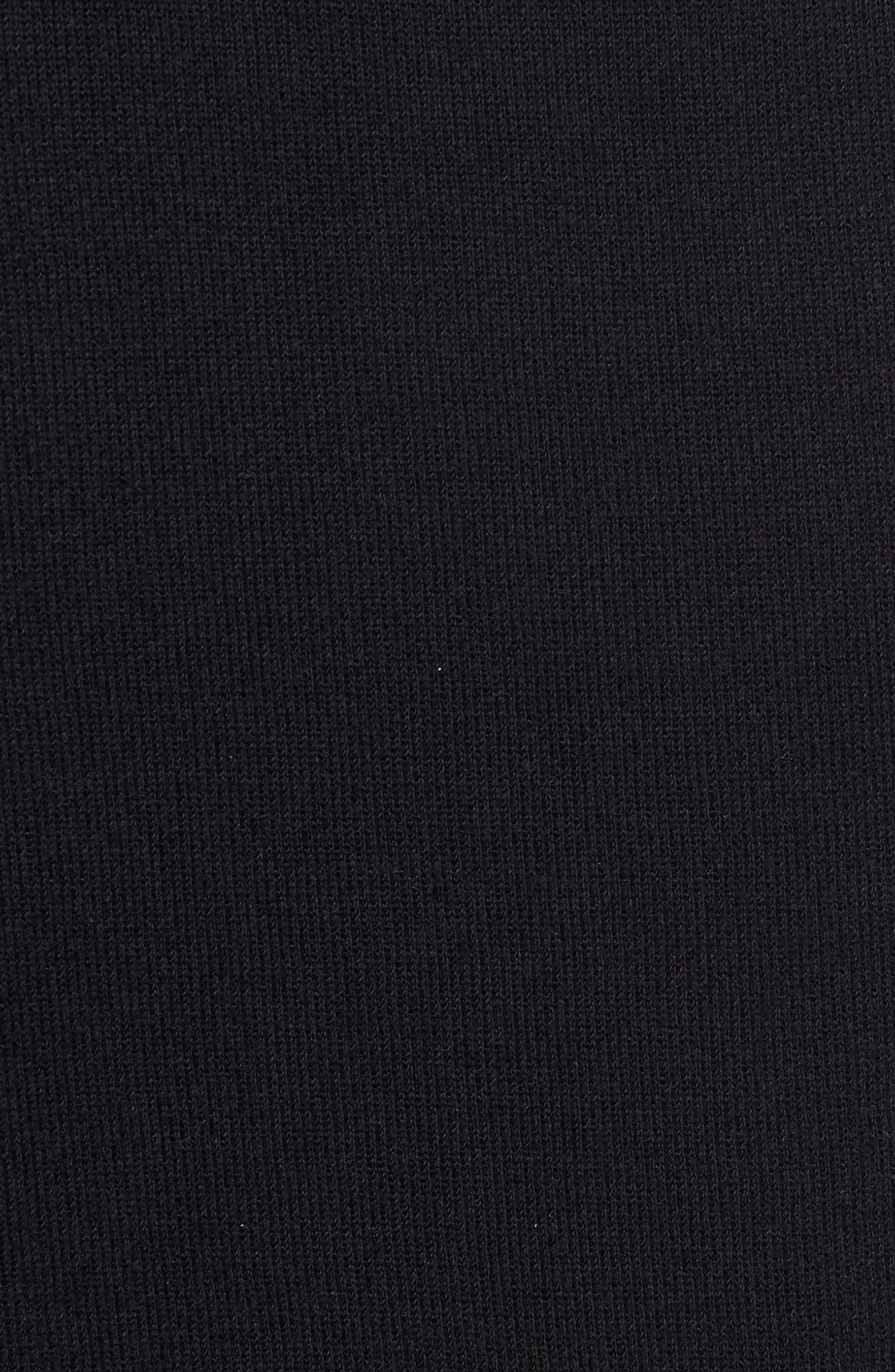 Chicago Bulls Courtside Snap Track Pants,                             Alternate thumbnail 5, color,                             BLACK/ BLACK