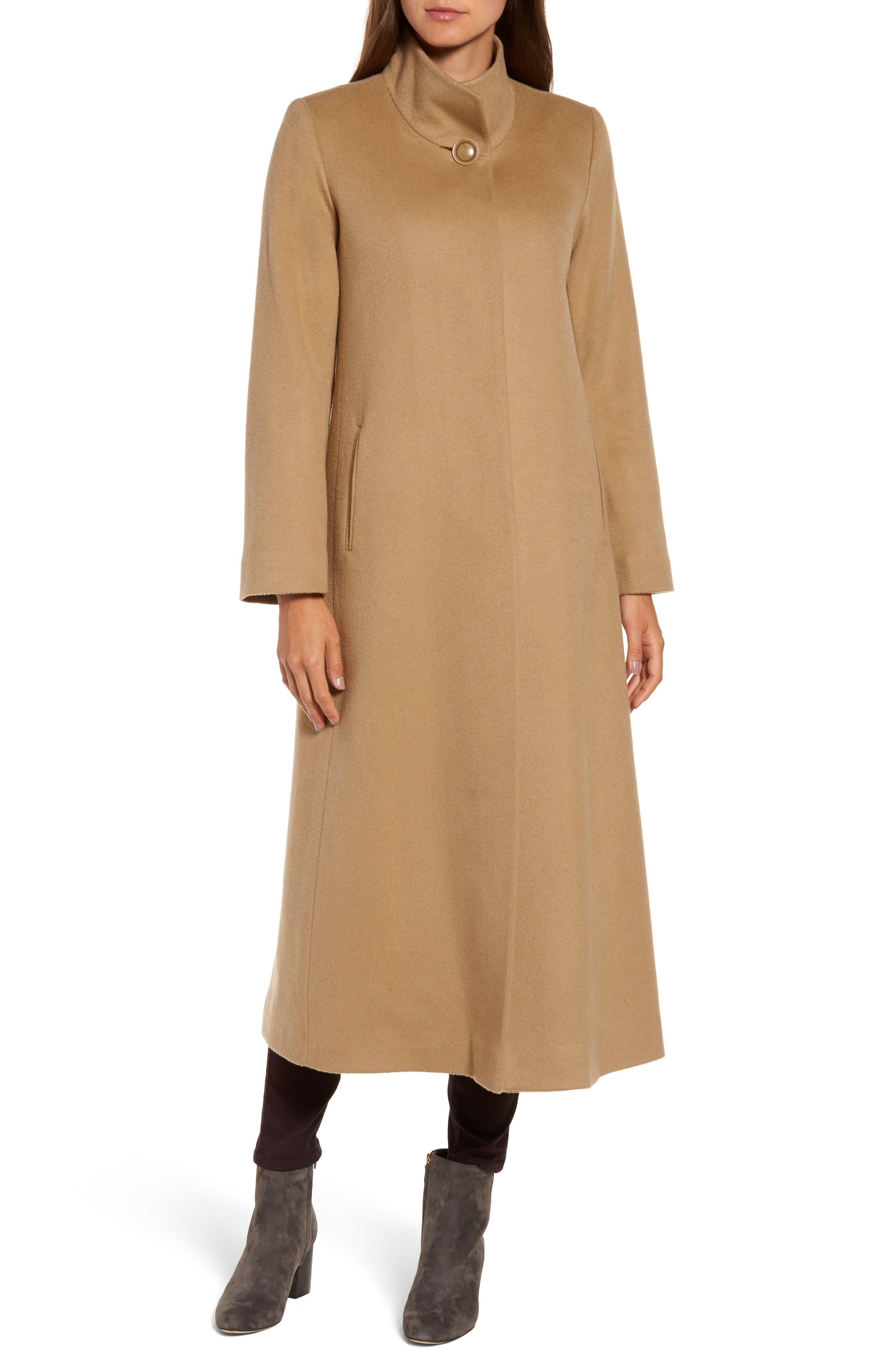 Cashmere Long Coat,                             Alternate thumbnail 8, color,