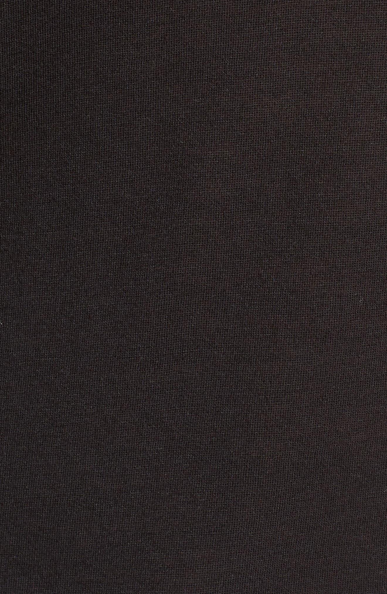 Reed Scoop Neck Tee,                             Alternate thumbnail 6, color,                             BLACK