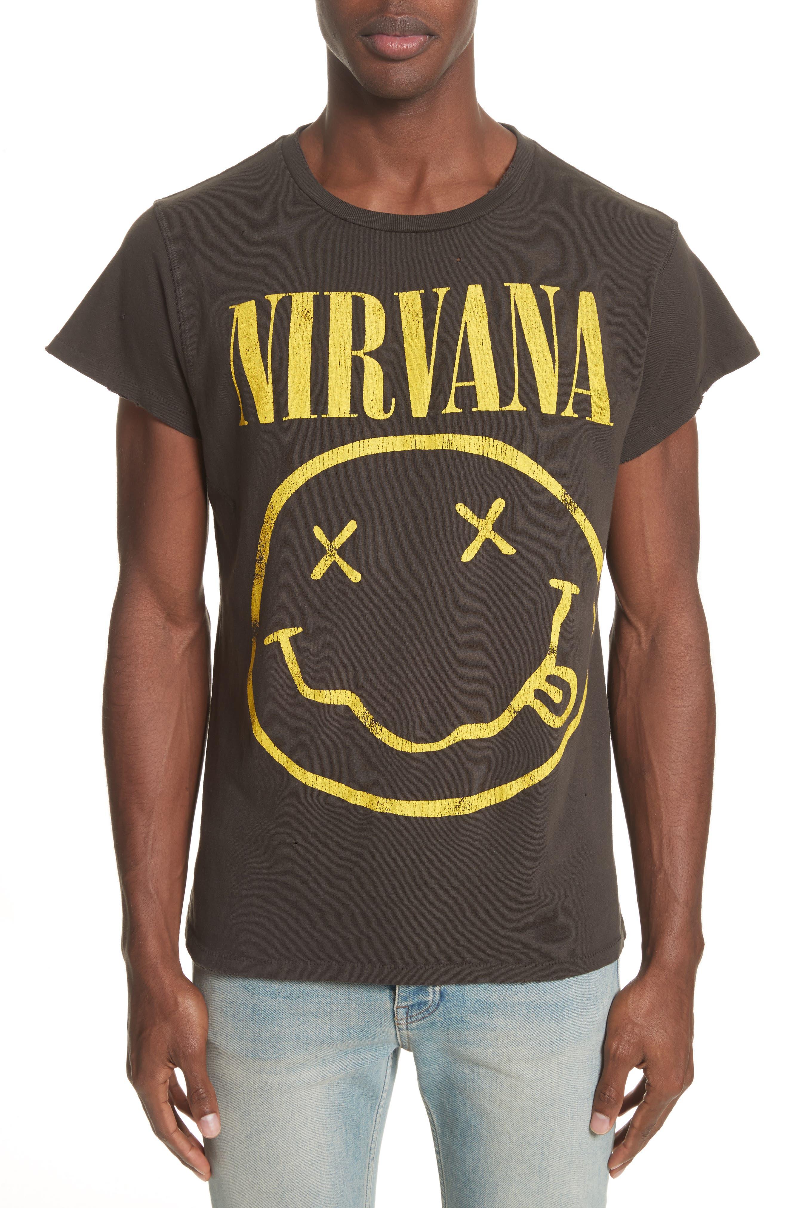 Nirvana Graphic T-Shirt,                             Main thumbnail 1, color,                             001