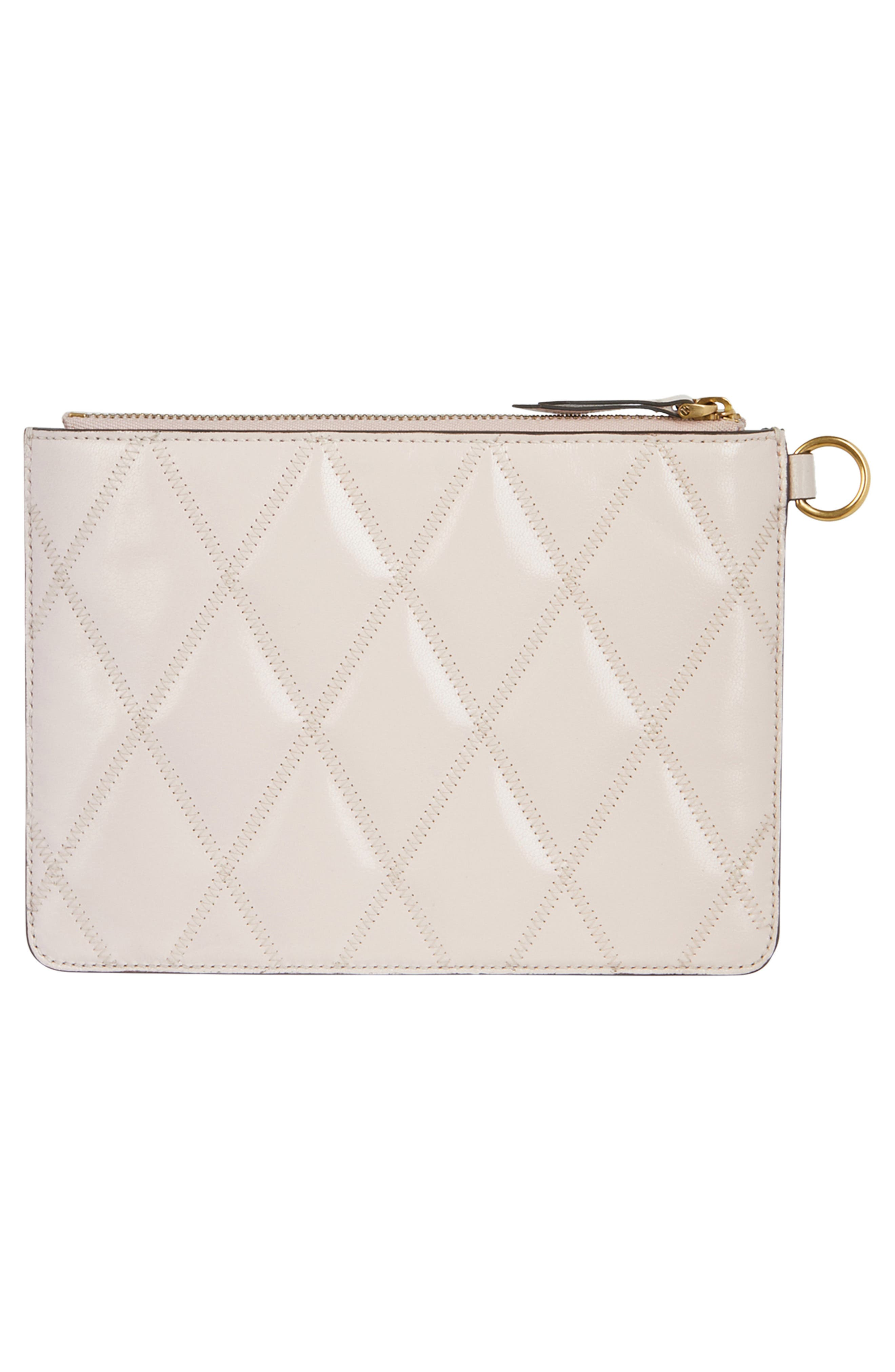 GIVENCHY,                             Leather Card Case & Two Pouches Set,                             Alternate thumbnail 2, color,                             PALE PINK