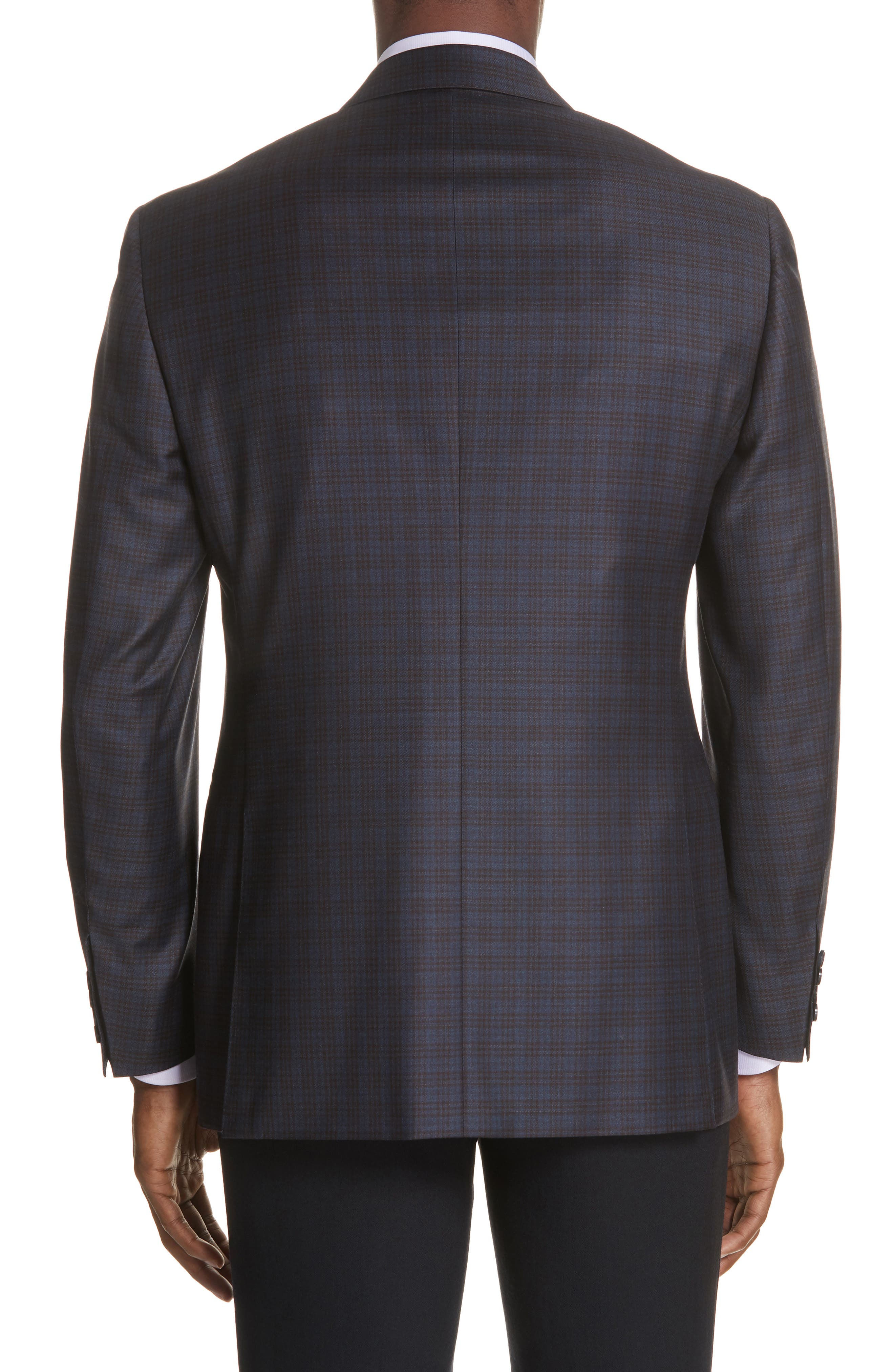 Classic Fit Plaid Wool Sport Coat,                             Alternate thumbnail 2, color,                             401