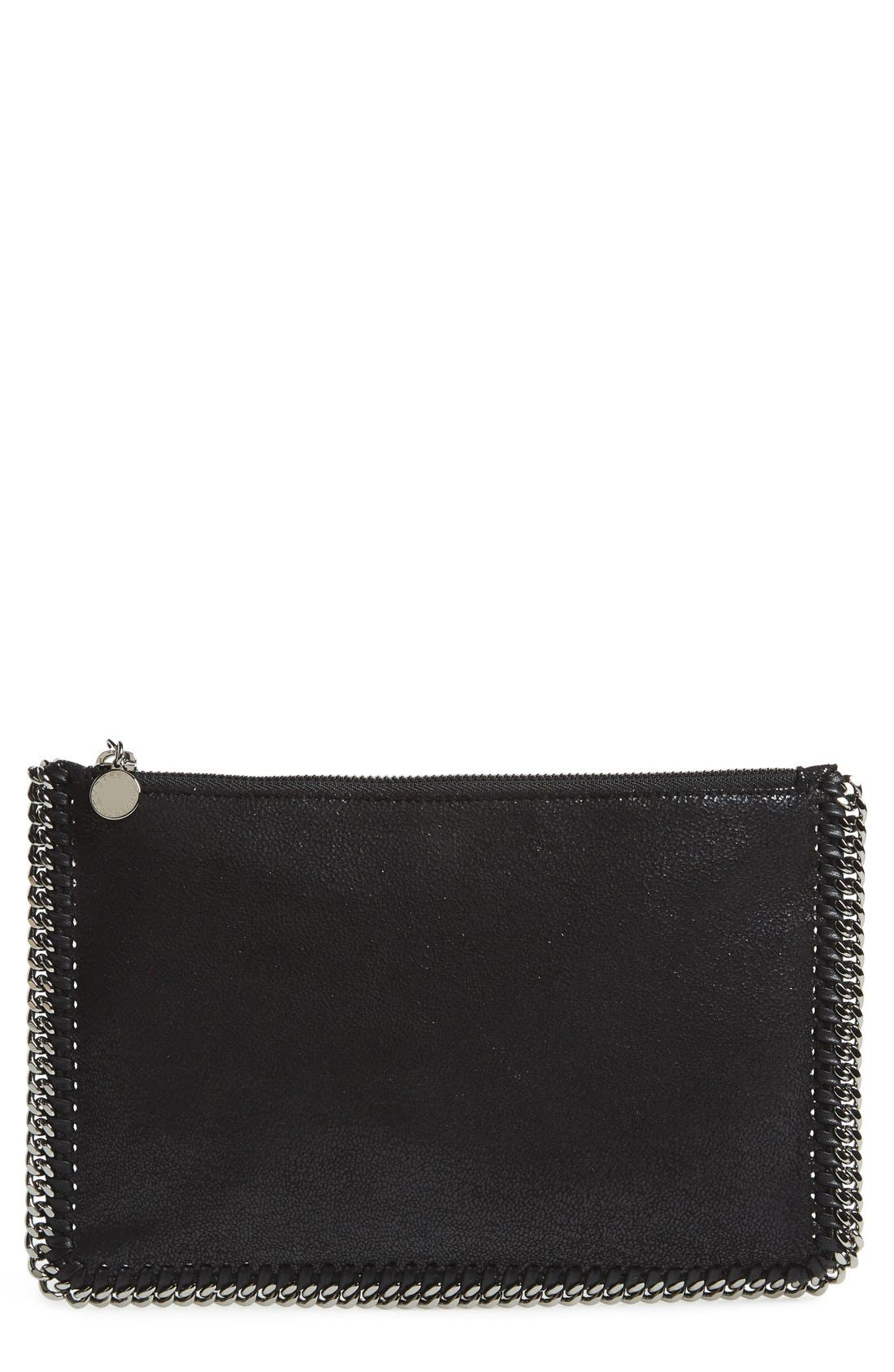 'Falabella' Faux Leather Pouch with Convertible Strap,                             Main thumbnail 1, color,                             002