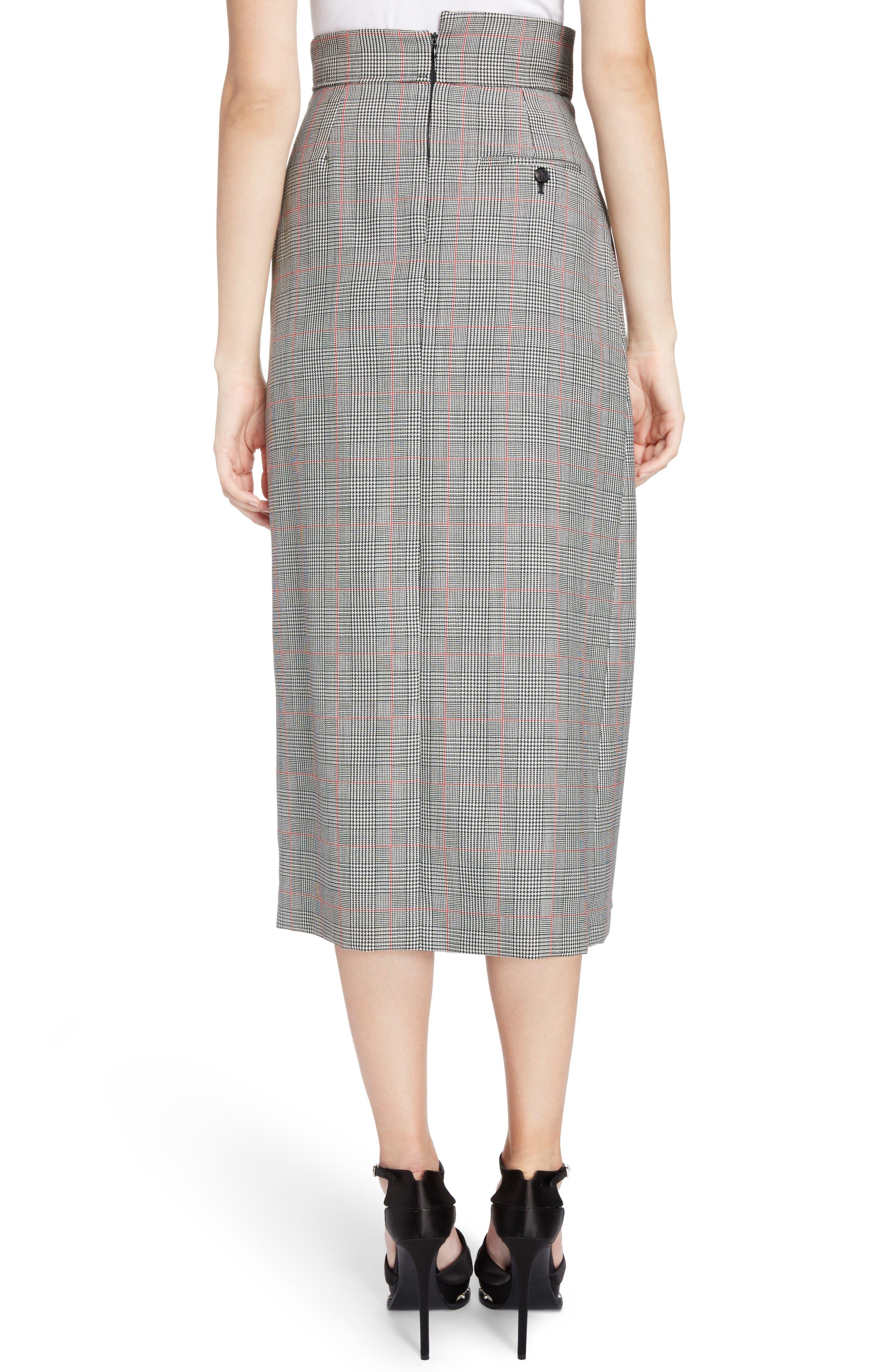 Prince of Wales Check Midi Skirt,                             Alternate thumbnail 2, color,                             086