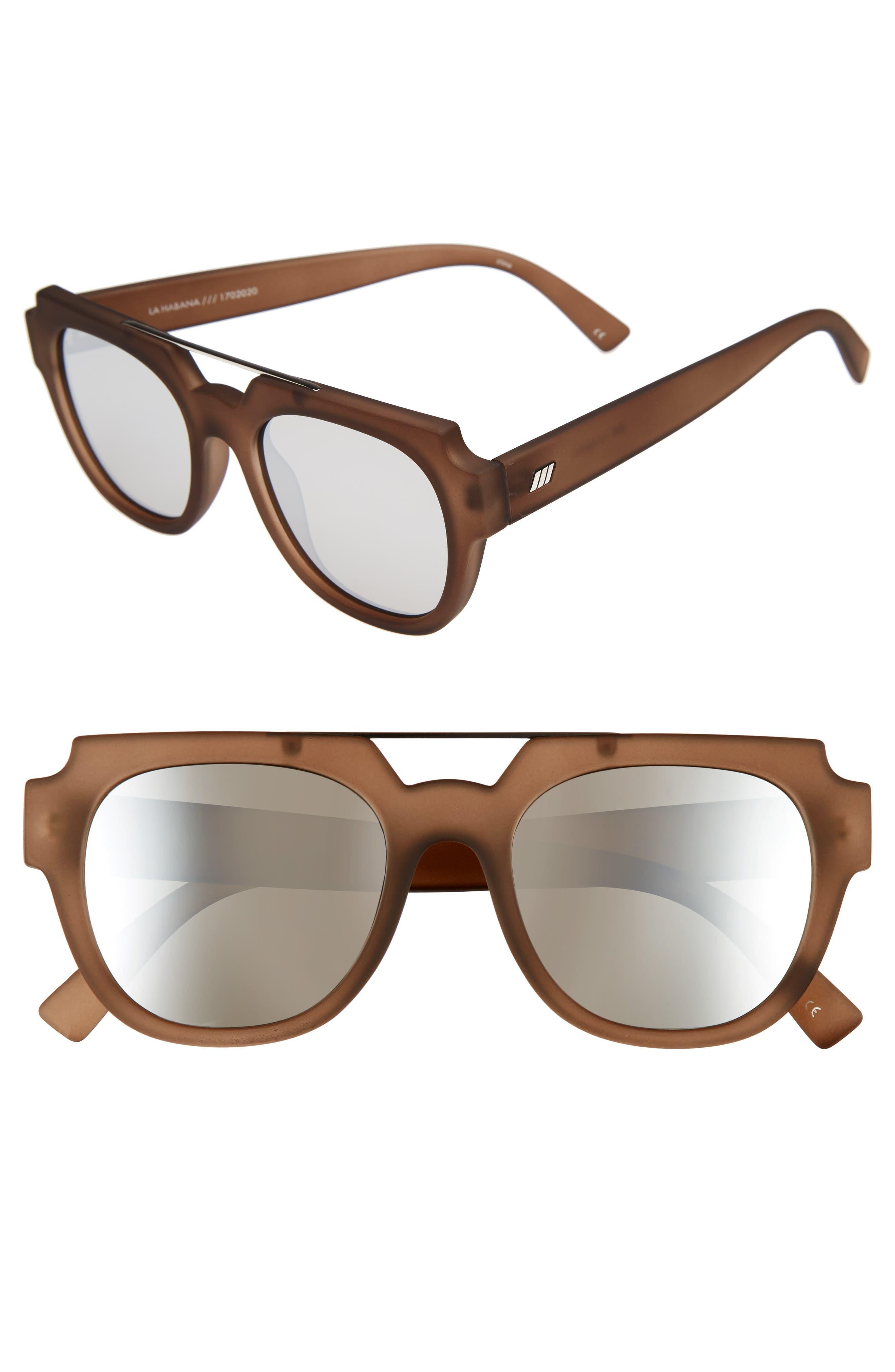 La Habana 52mm Retro Sunglasses,                             Main thumbnail 3, color,