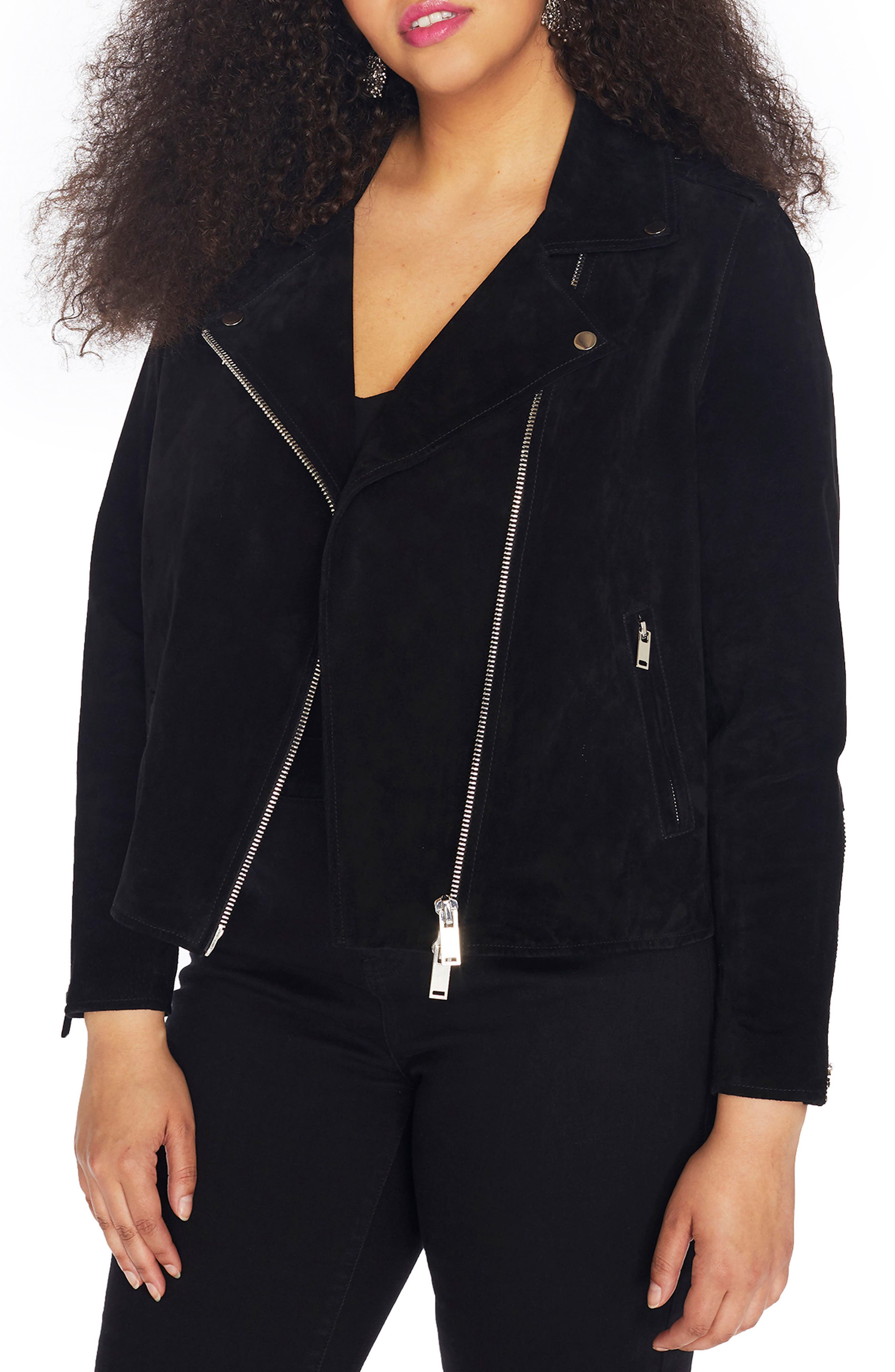 Suede Moto Jacket,                             Main thumbnail 1, color,