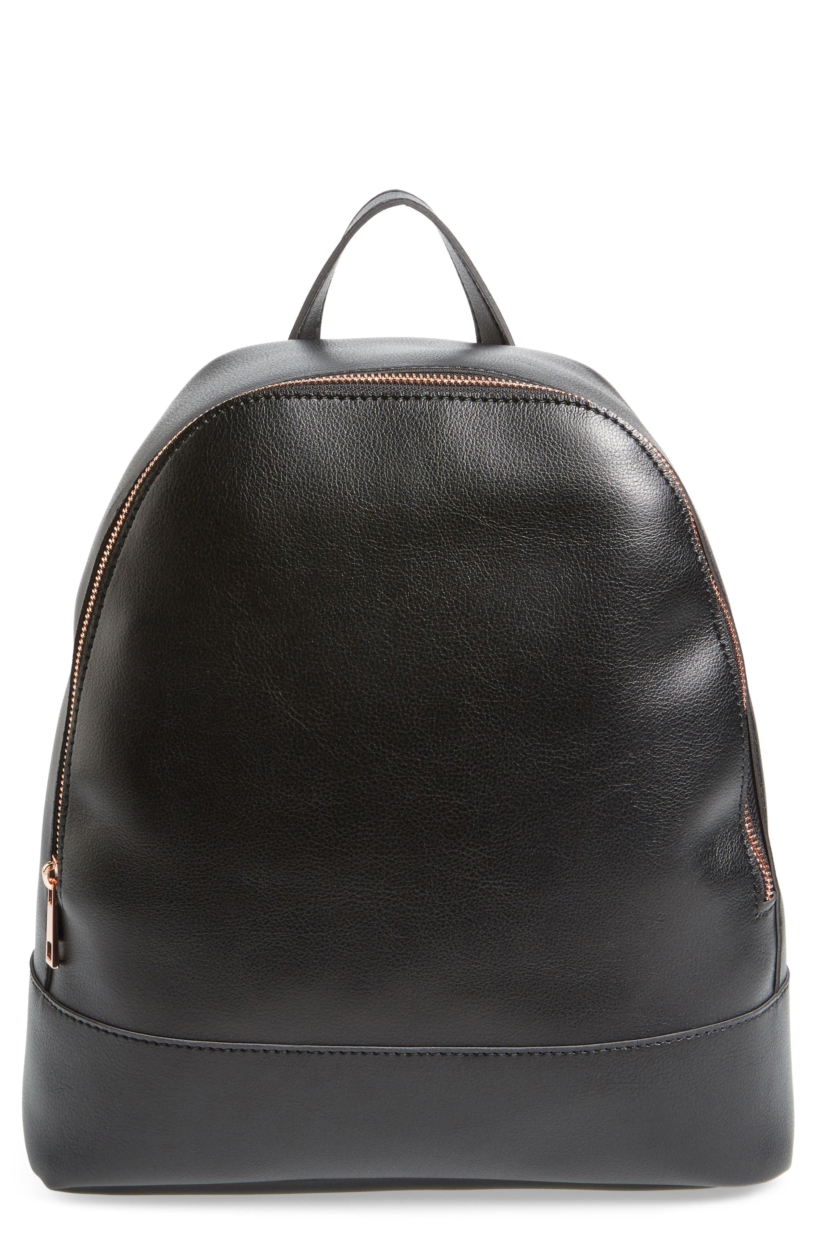Chester Faux Leather Backpack,                         Main,                         color, 001