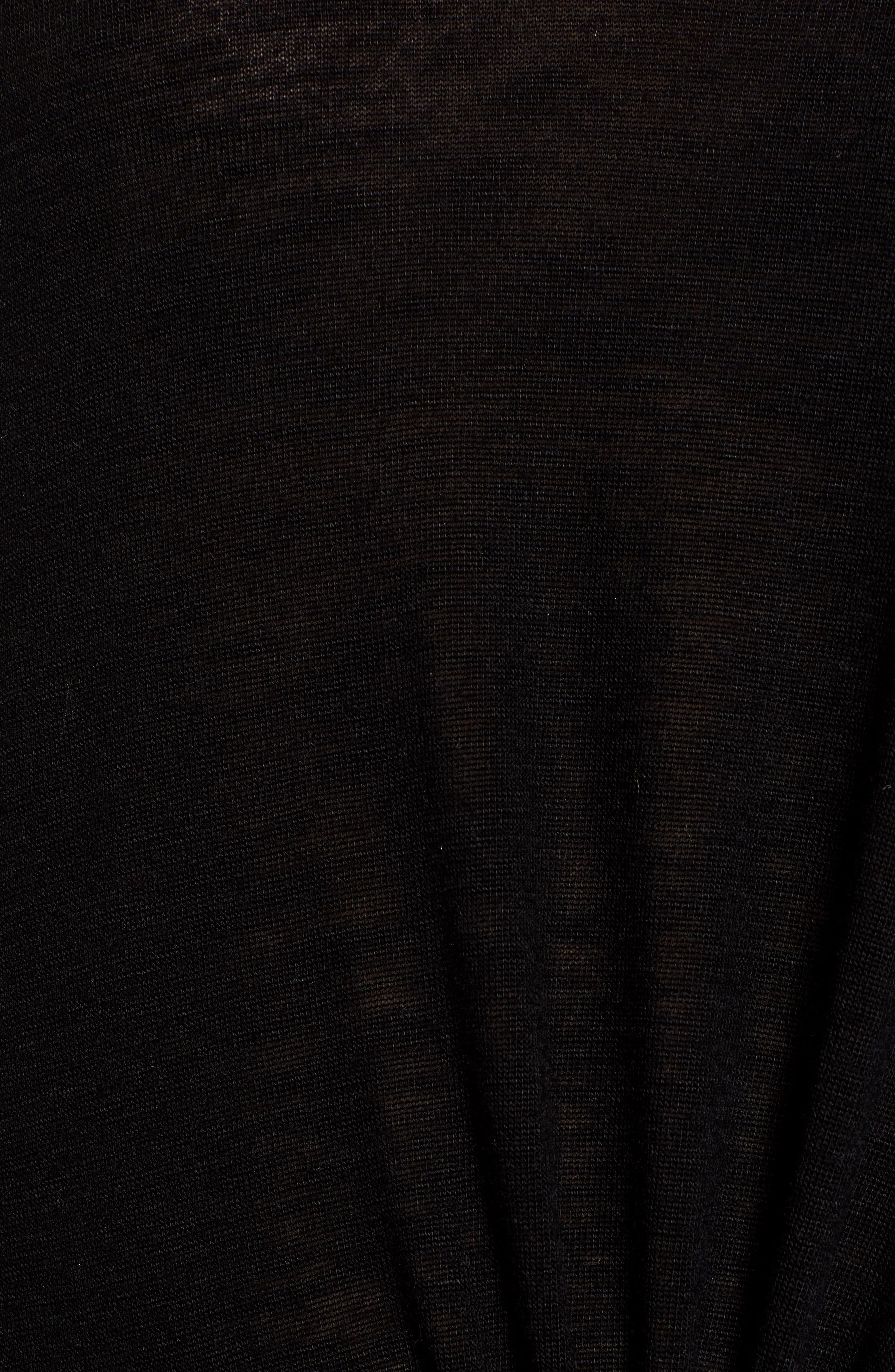 Knot Hem Top,                             Alternate thumbnail 5, color,                             BLACK