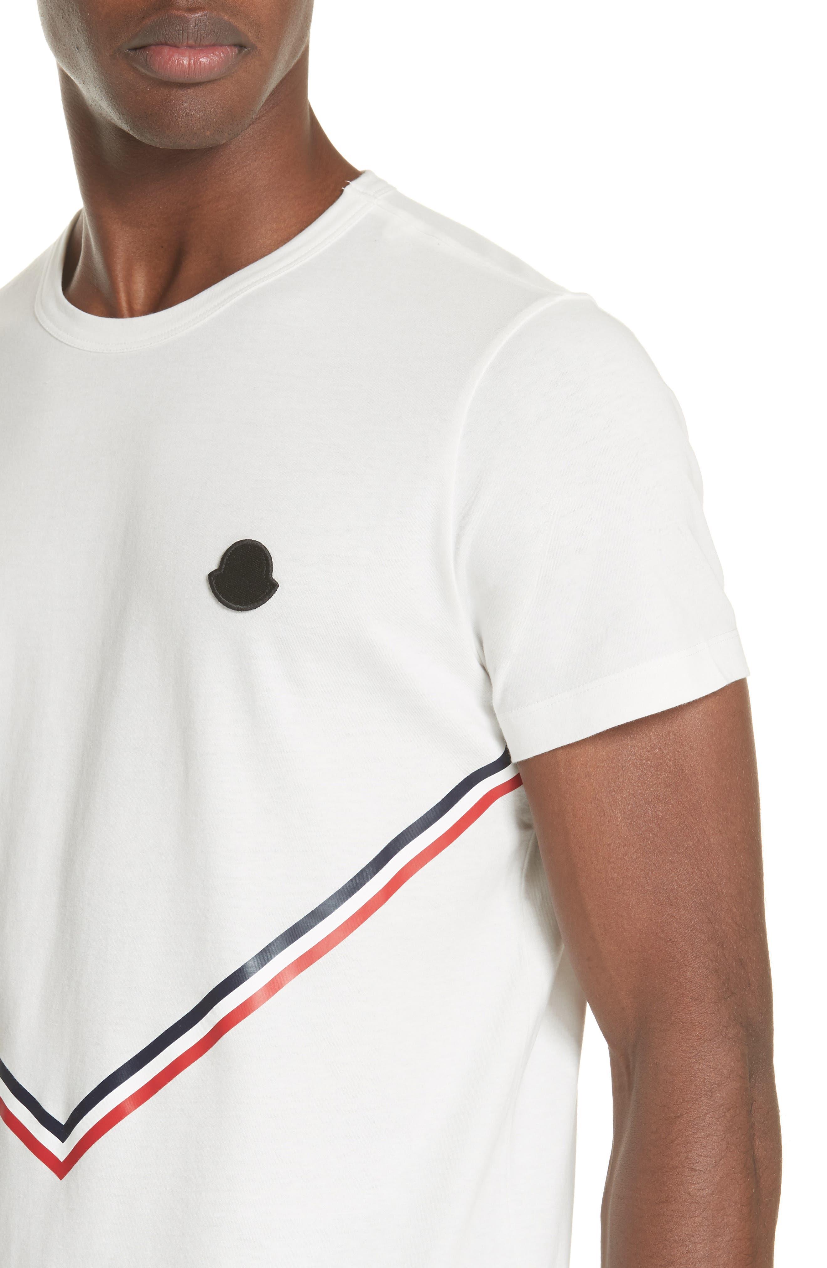 Chevron Stripe Print T-Shirt,                             Alternate thumbnail 4, color,                             NATURAL