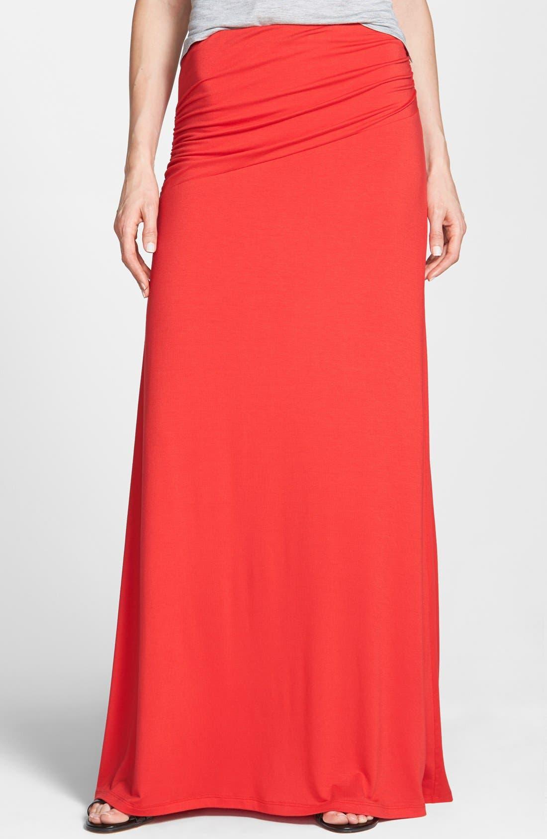 Asymmetric Knit Maxi Skirt,                             Main thumbnail 12, color,