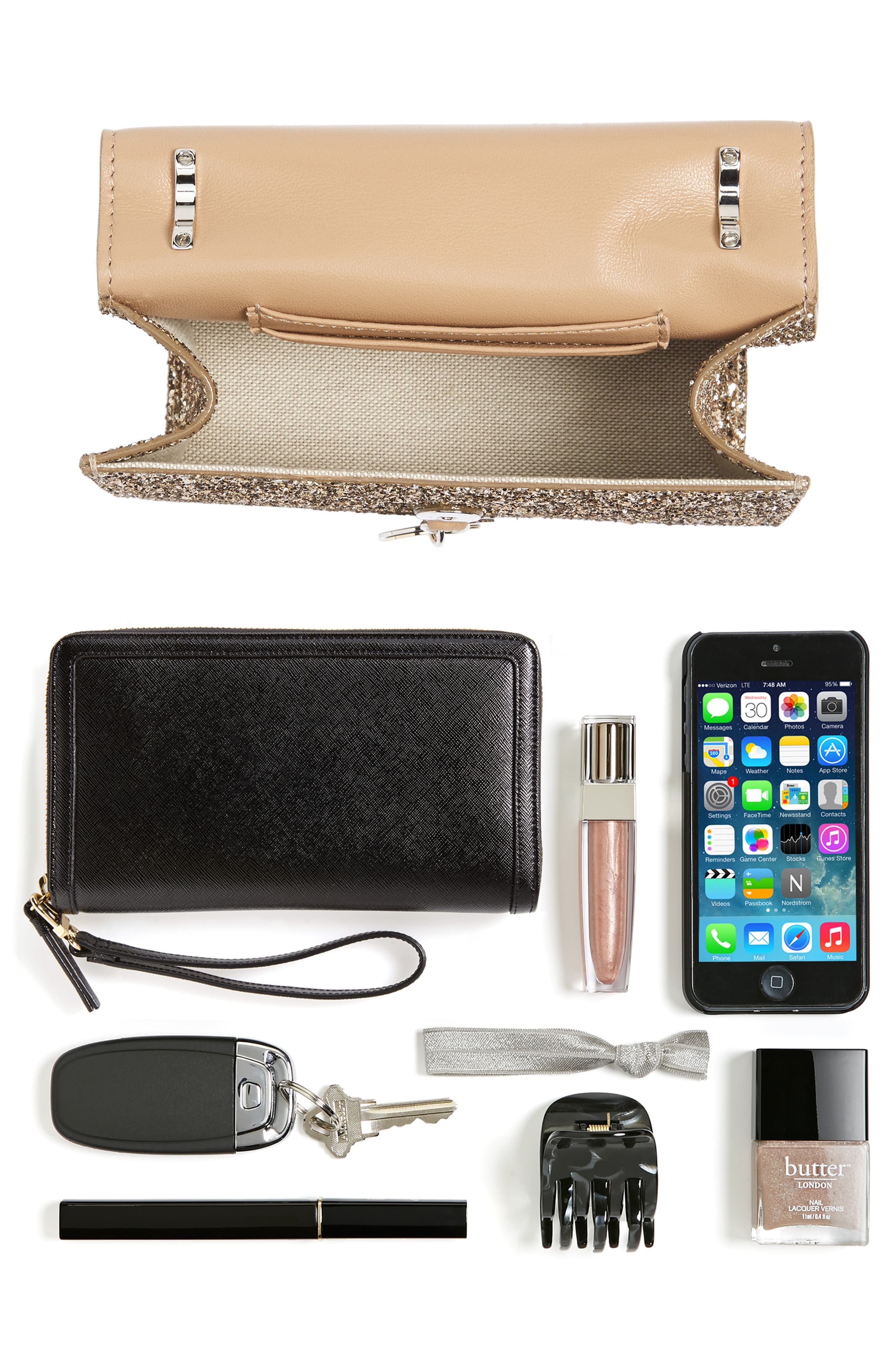 Finley Shadow Glitter Shoulder Bag,                             Alternate thumbnail 7, color,                             710
