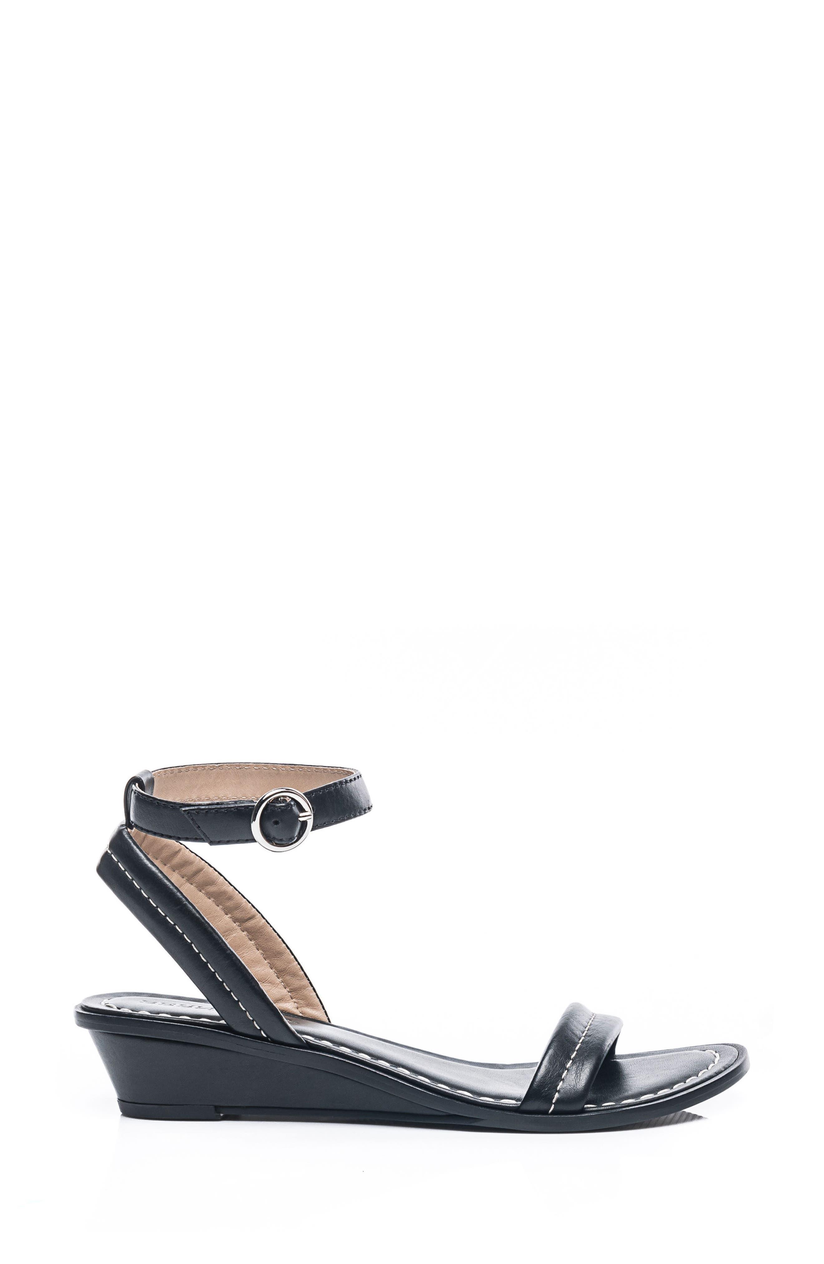 Bernardo Catherine Ankle Strap Sandal,                             Alternate thumbnail 3, color,                             BLACK ANTIQUE