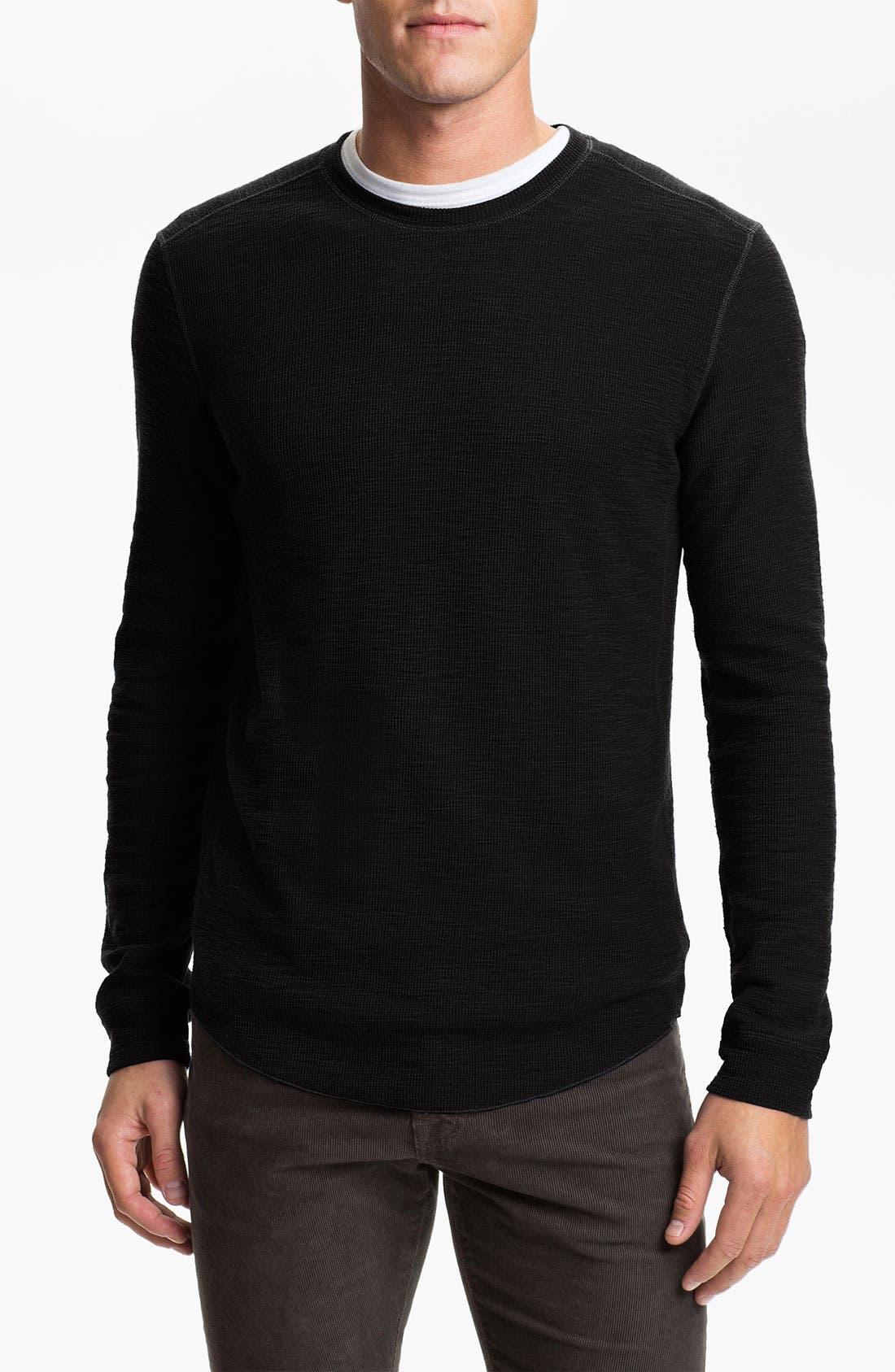 VINCE,                             Thermal T-Shirt,                             Main thumbnail 1, color,                             001