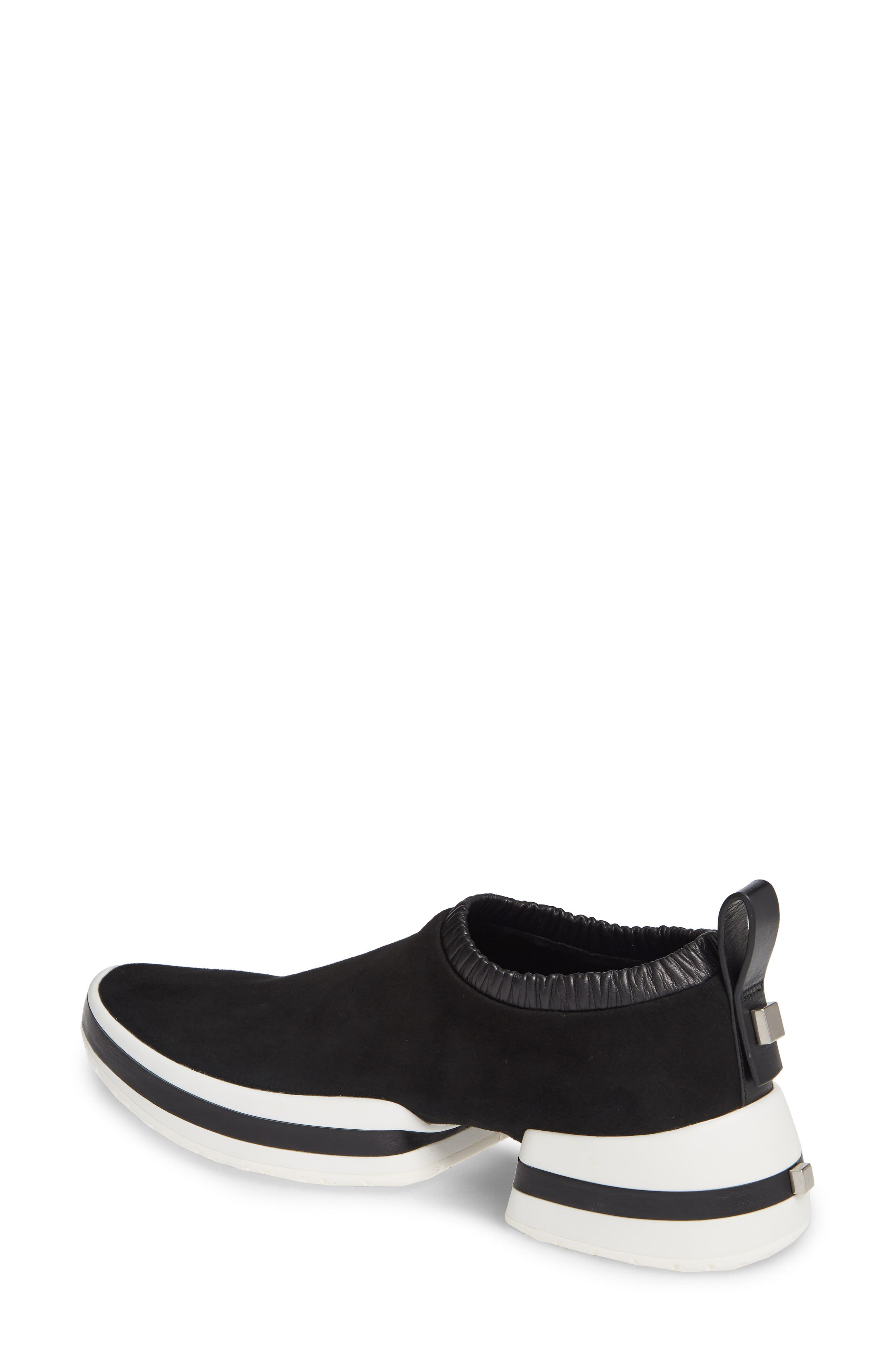 612 Sneaker,                             Alternate thumbnail 2, color,                             BLACK SUEDE