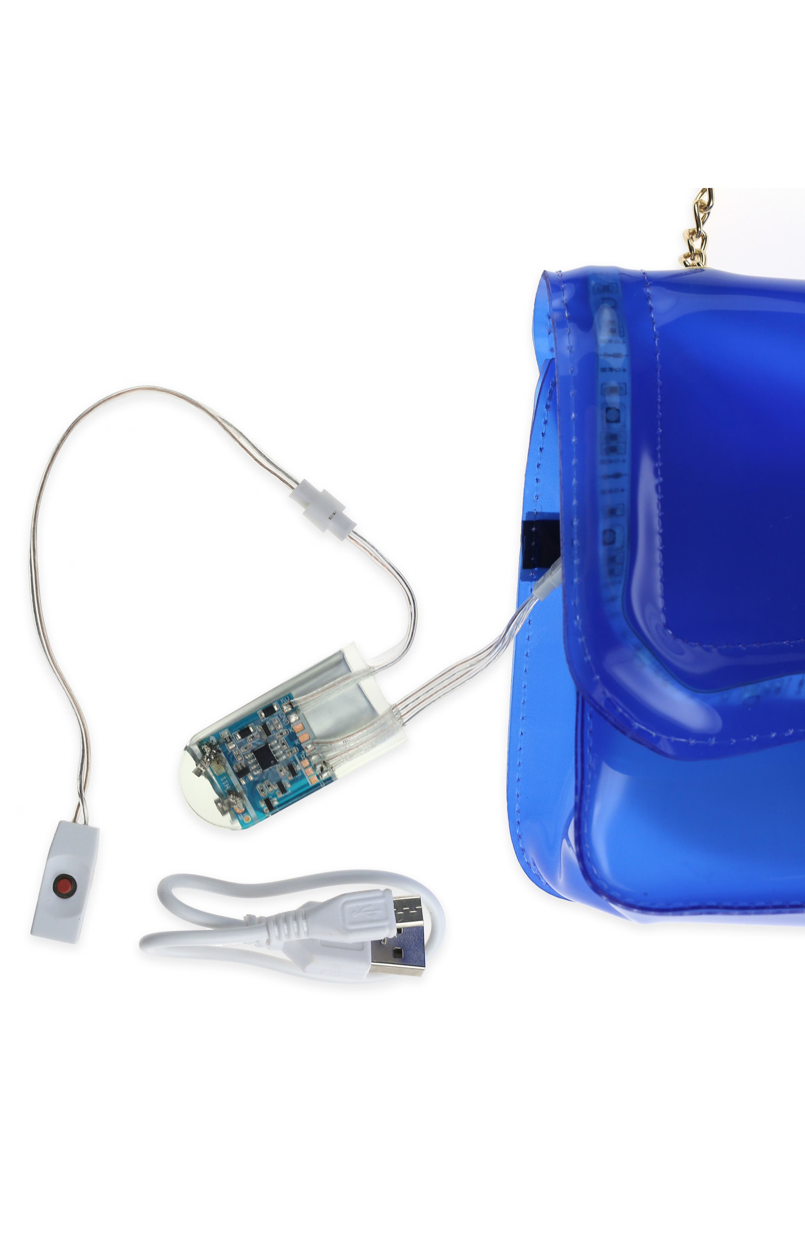 LED Light-Up Jelly Crossbody Bag,                             Alternate thumbnail 5, color,                             435