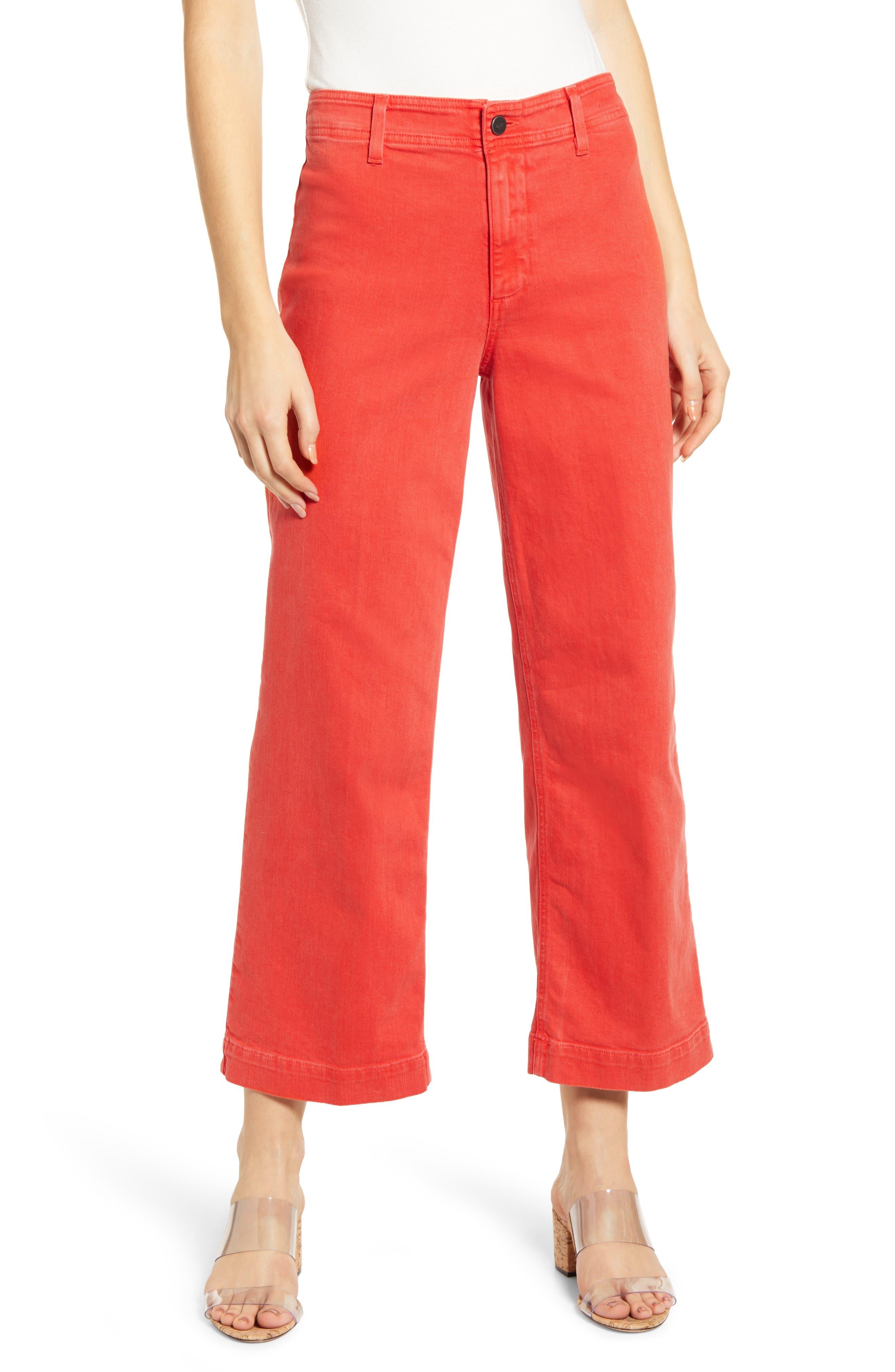 Women's Paige Nellie Clean Front Culotte Jeans