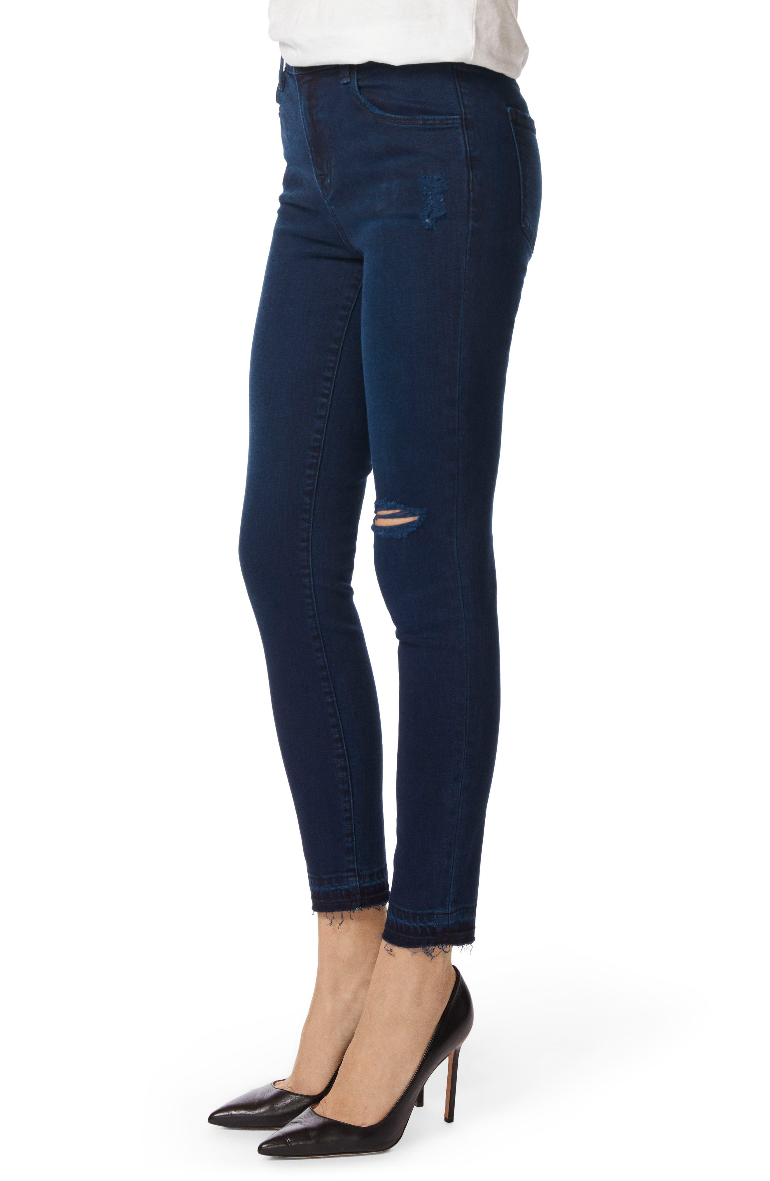 Alana Released Hem High Rise Crop Skinny Jeans,                             Alternate thumbnail 3, color,                             INVOKE DESTRUCT