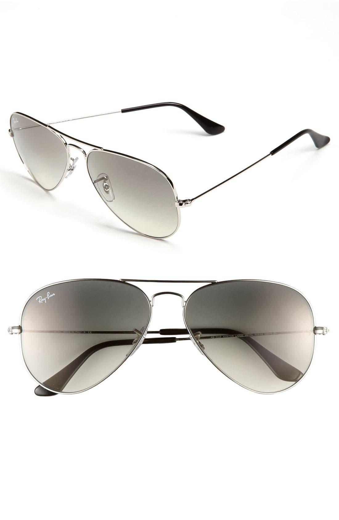 Standard Original 58mm Aviator Sunglasses,                         Main,                         color, 050