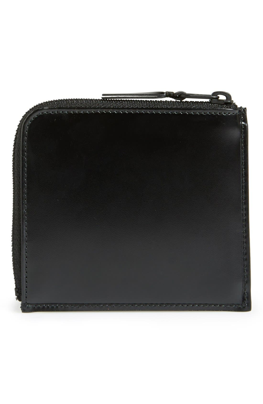 Half Zip French Wallet,                             Alternate thumbnail 3, color,                             001