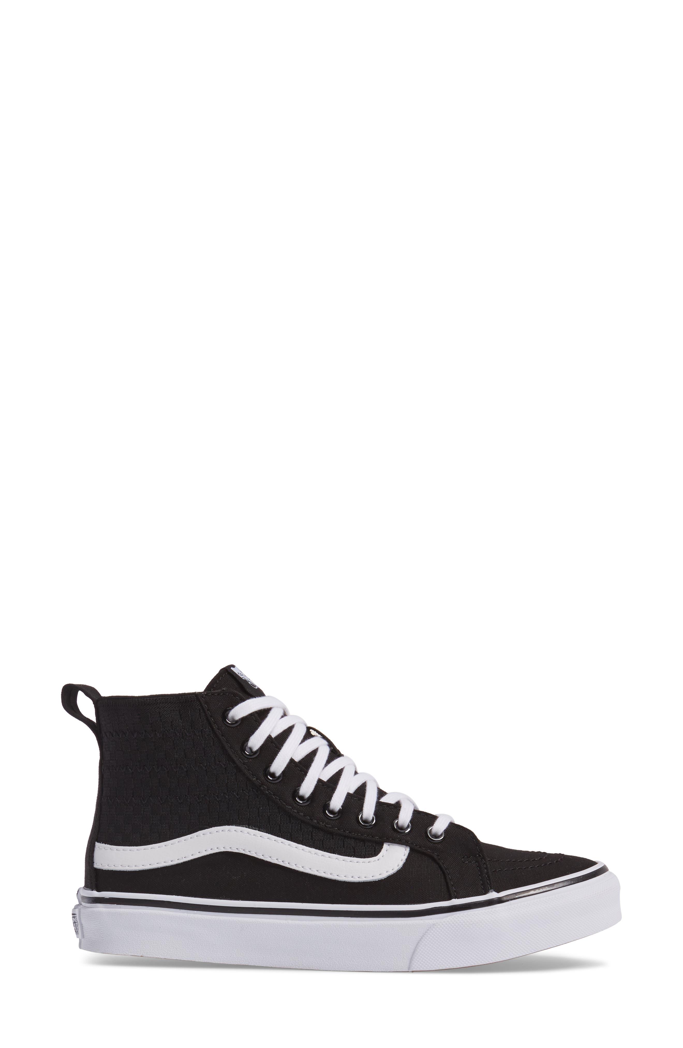 SK8-HI Slim Gore Sneaker,                             Alternate thumbnail 3, color,                             001
