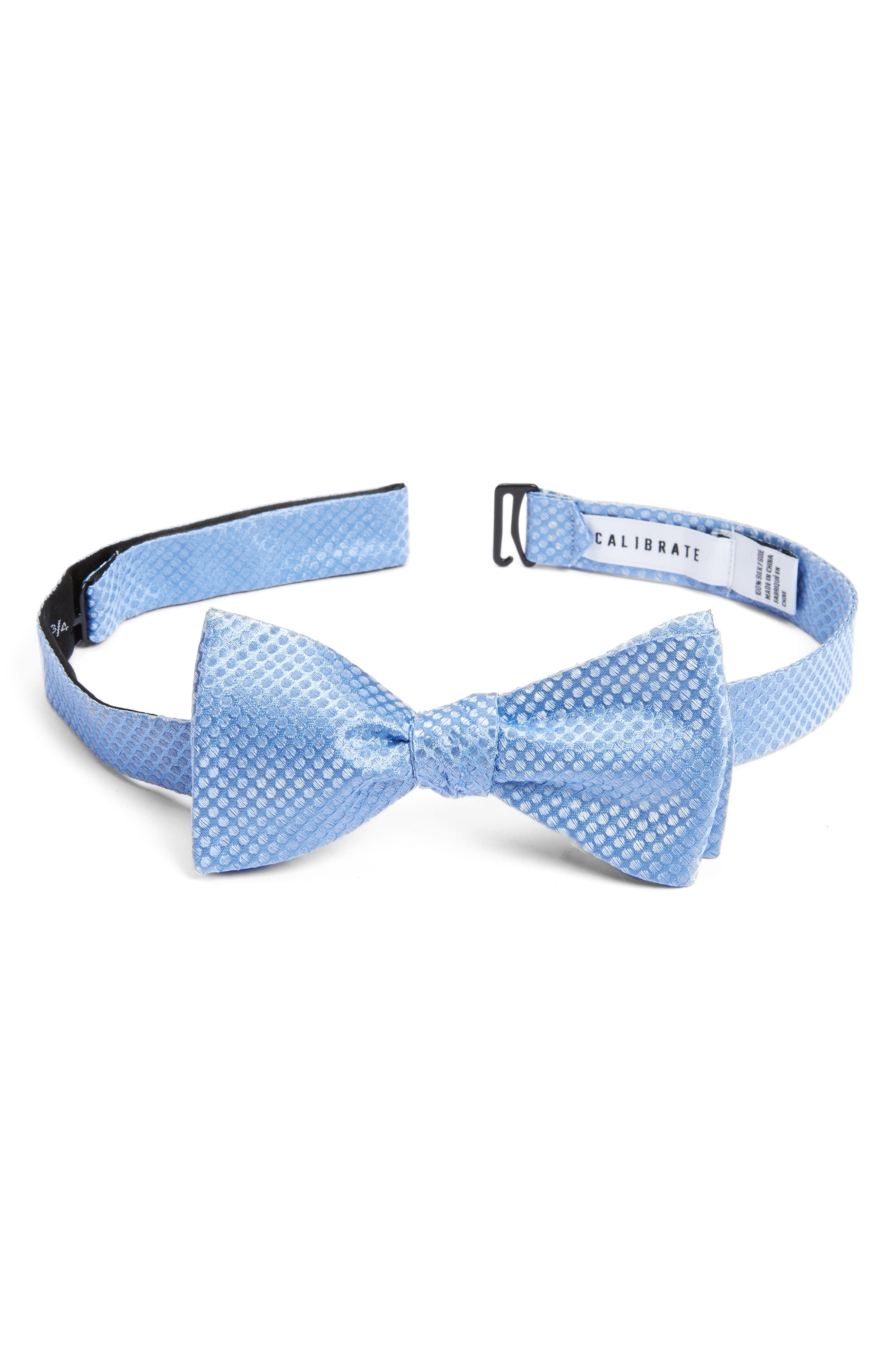 Saturated Dot Silk Bow Tie,                             Main thumbnail 1, color,