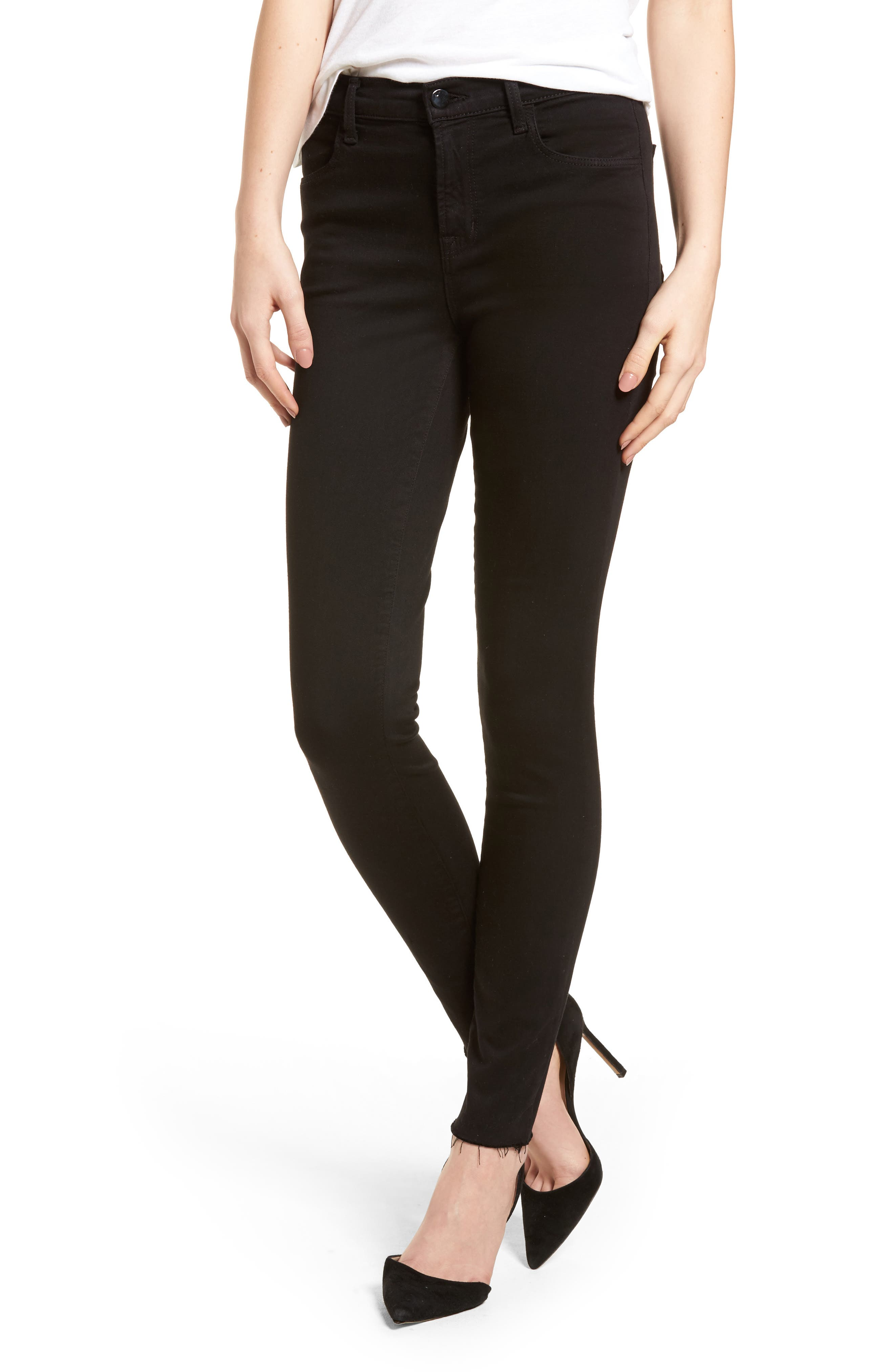 Maria High Waist Skinny Jeans,                             Main thumbnail 1, color,                             BLACK BASTILLE