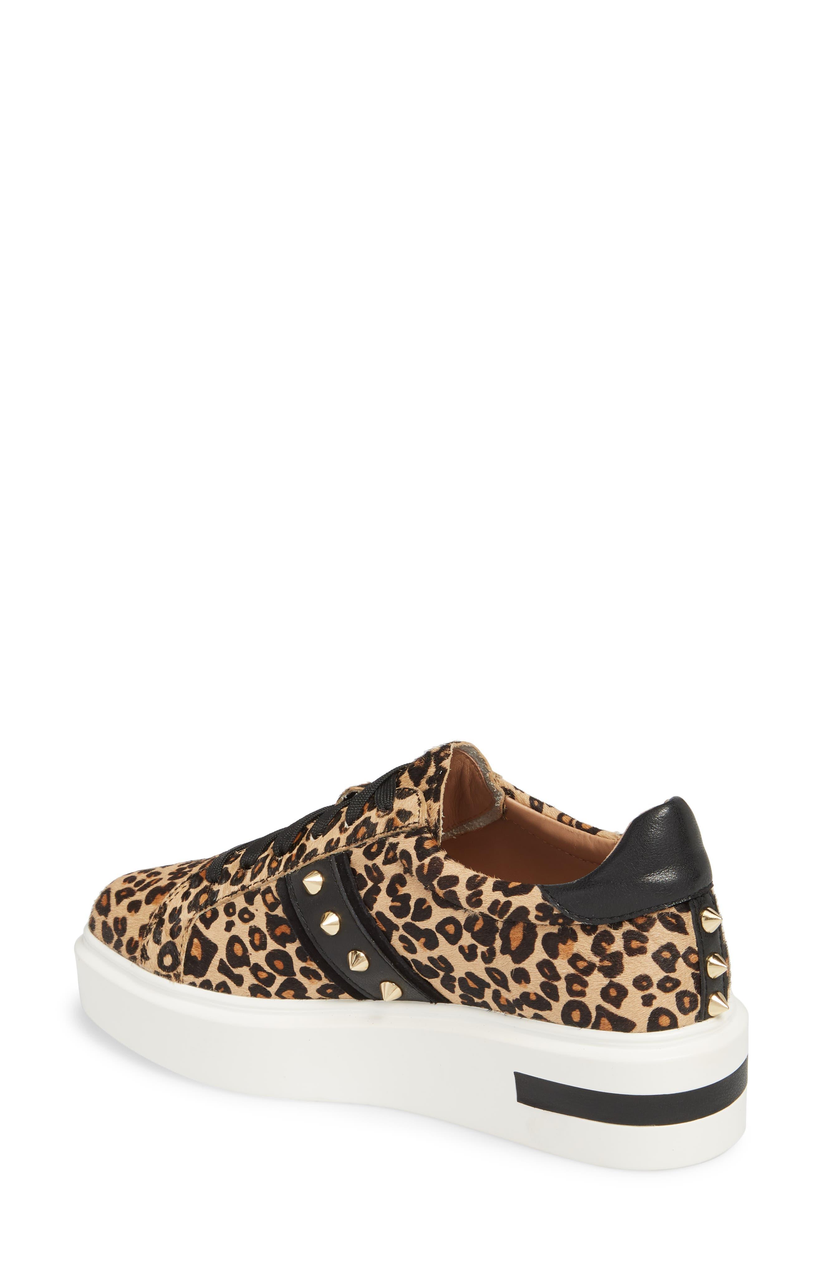LINEA PAOLO,                             Knox II Platform Genuine Calf Hair Sneaker,                             Alternate thumbnail 2, color,                             LEOPARD PRINT HAIR CALF